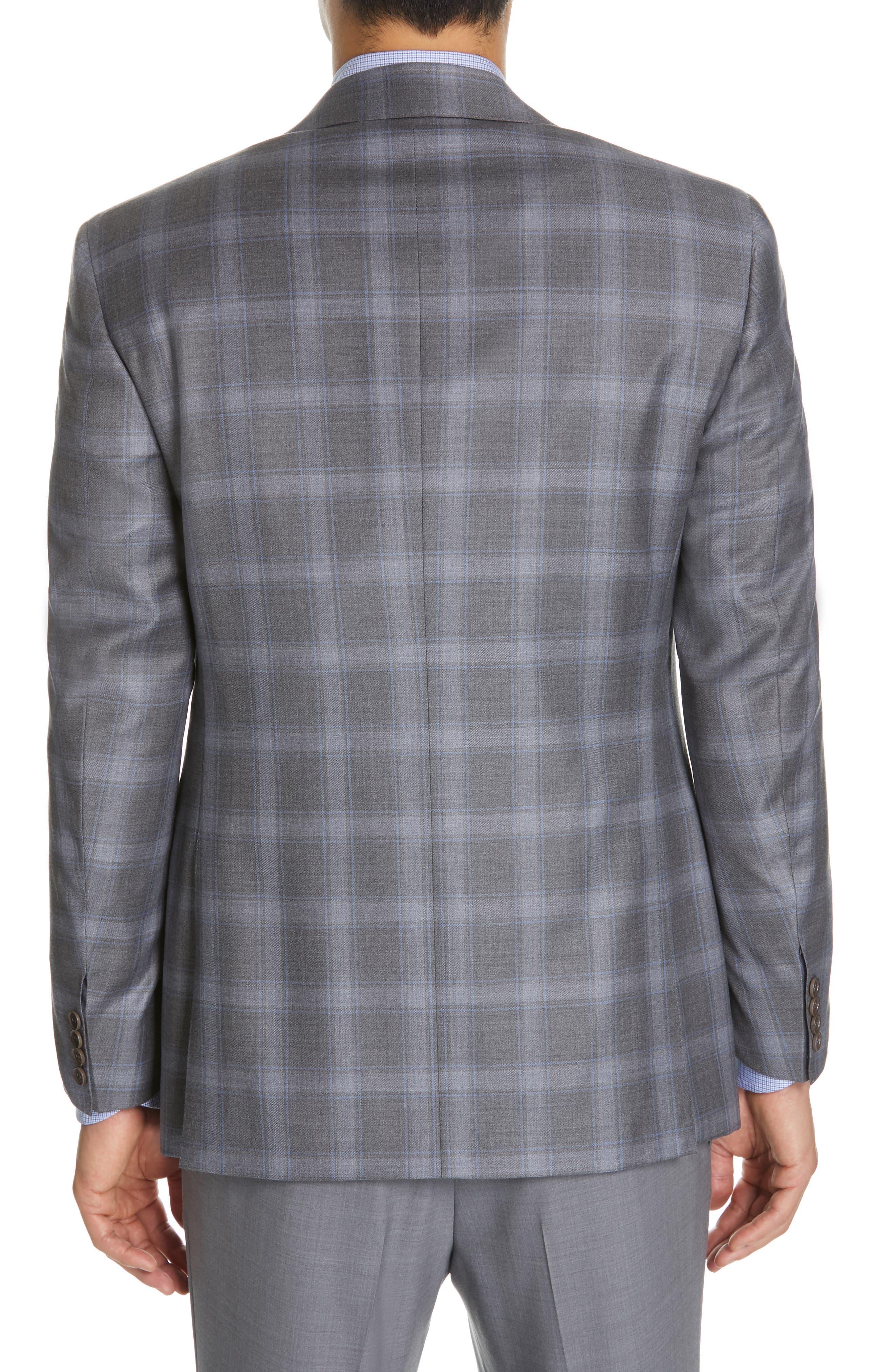 Sienna Classic Fit Plaid Wool Sport Coat,                             Alternate thumbnail 2, color,                             GREY