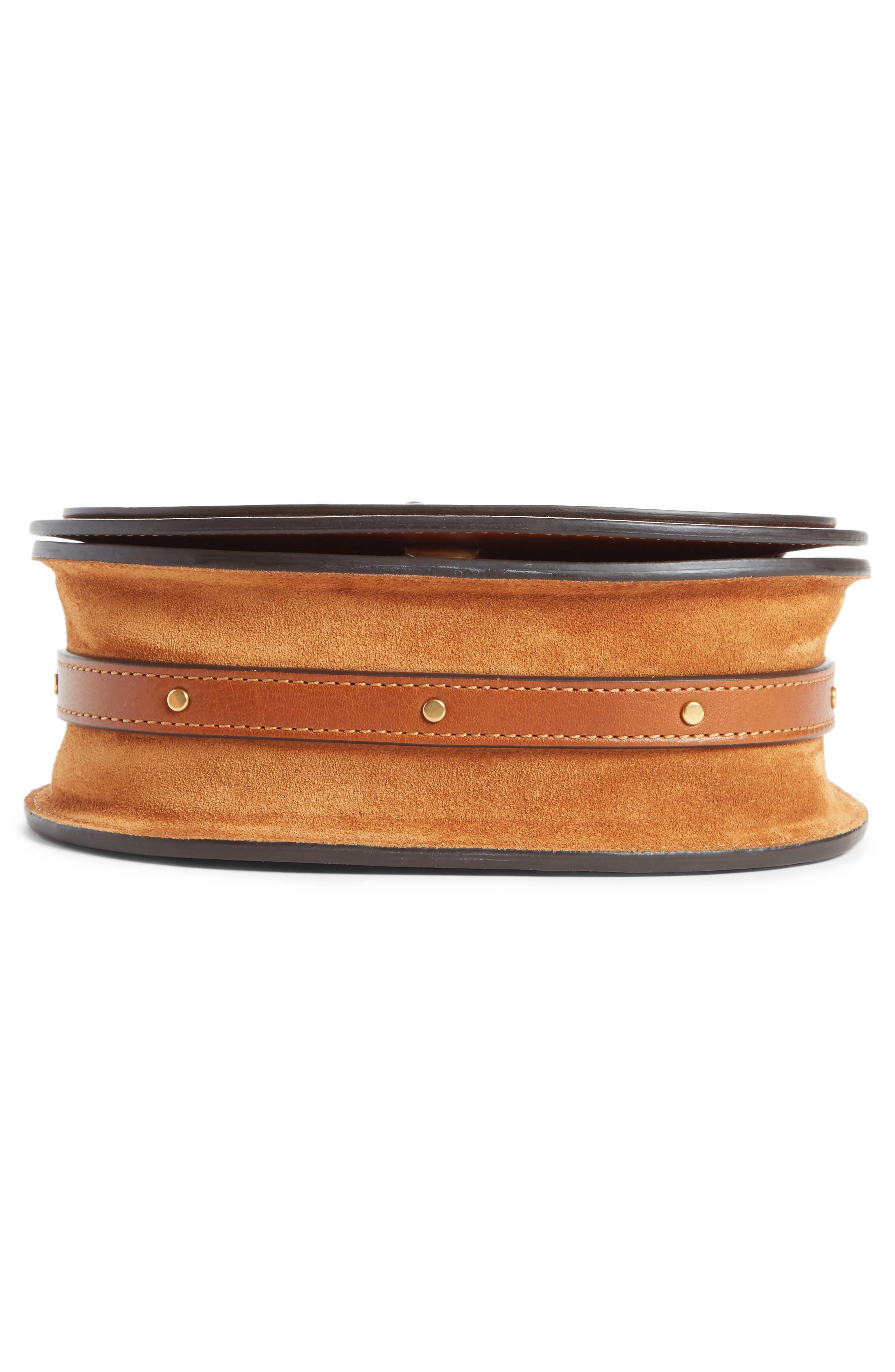 Small Nile Bracelet Leather Crossbody Bag,                             Alternate thumbnail 6, color,                             CARAMEL