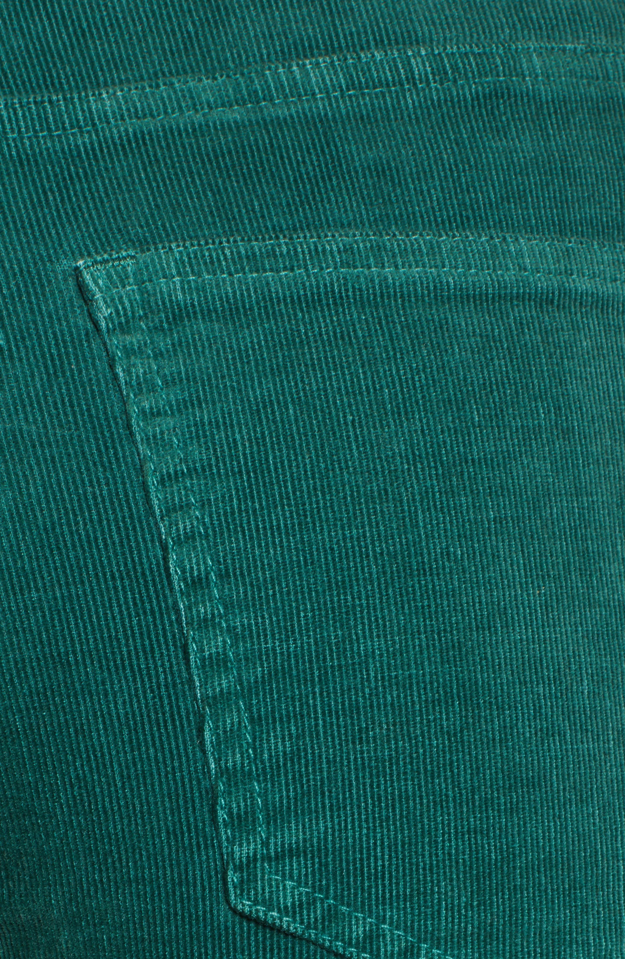 Crop Flare Pants,                             Alternate thumbnail 6, color,                             EMERALD