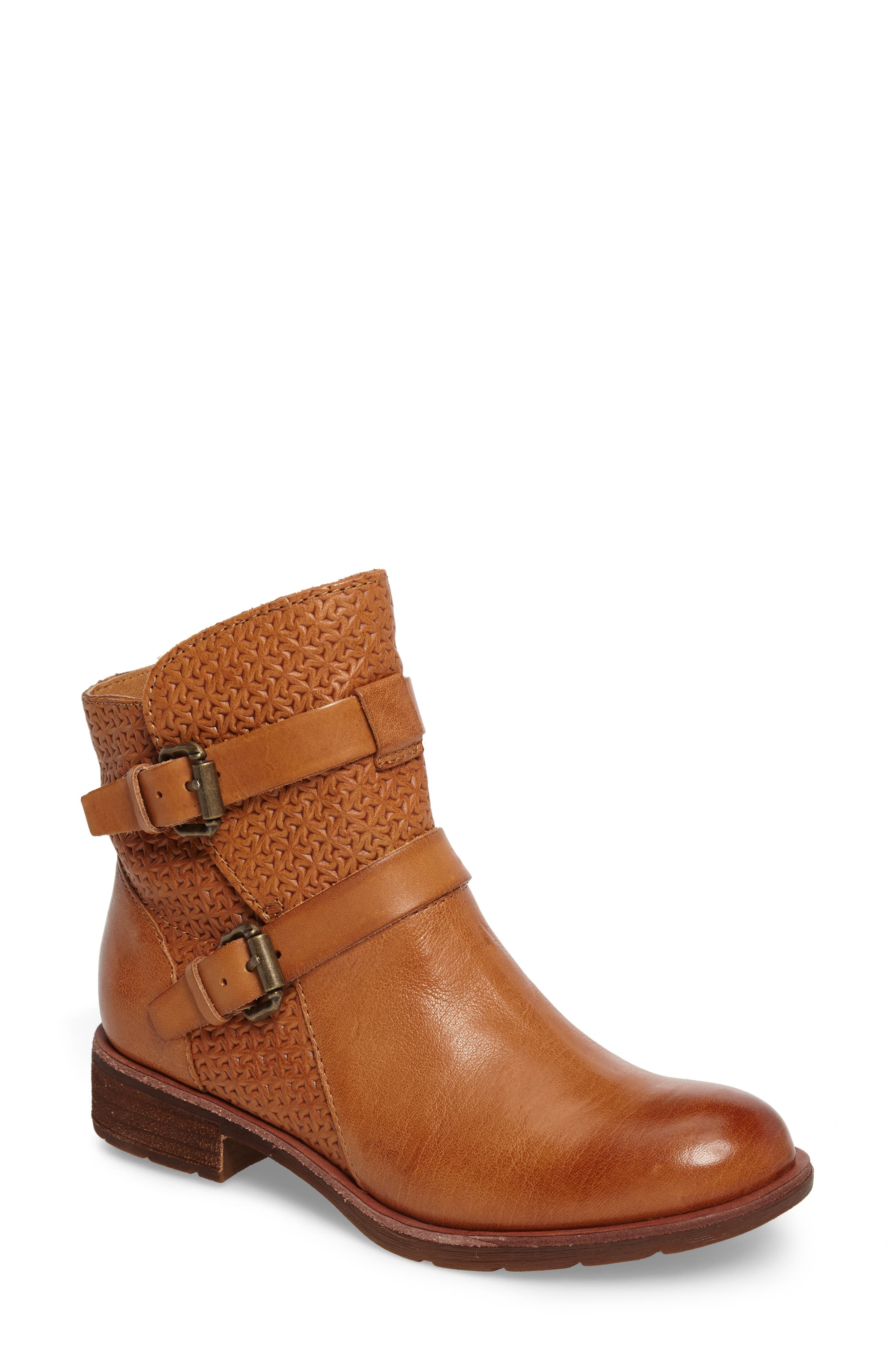 Baywood Buckle Boot,                             Main thumbnail 1, color,                             LUGGAGE LEATHER