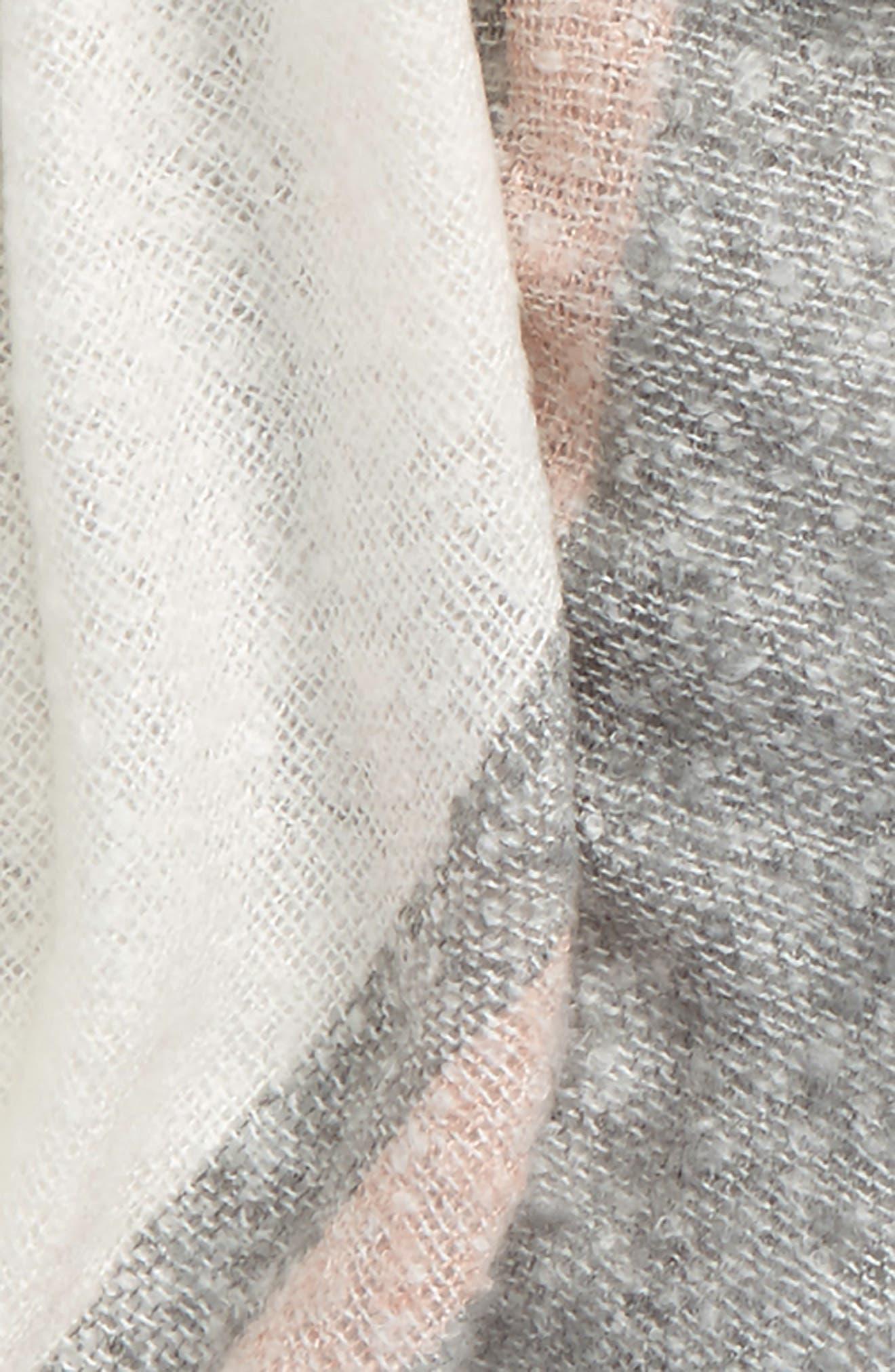 Center Stripe Scarf,                             Alternate thumbnail 3, color,                             GREY MULTI