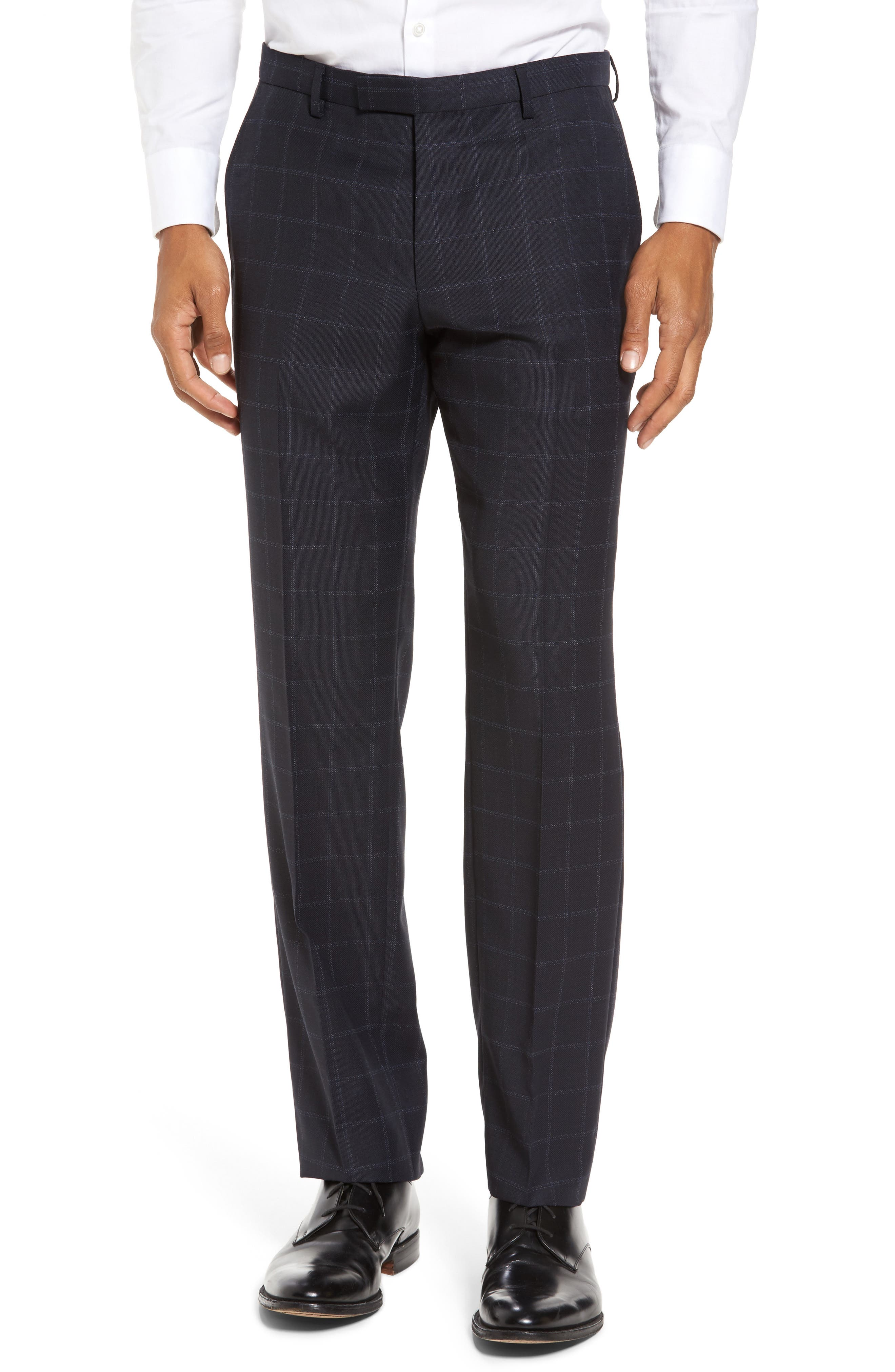Johnstons/Lenon Classic Fit Windowpane Wool Suit,                             Alternate thumbnail 6, color,                             410