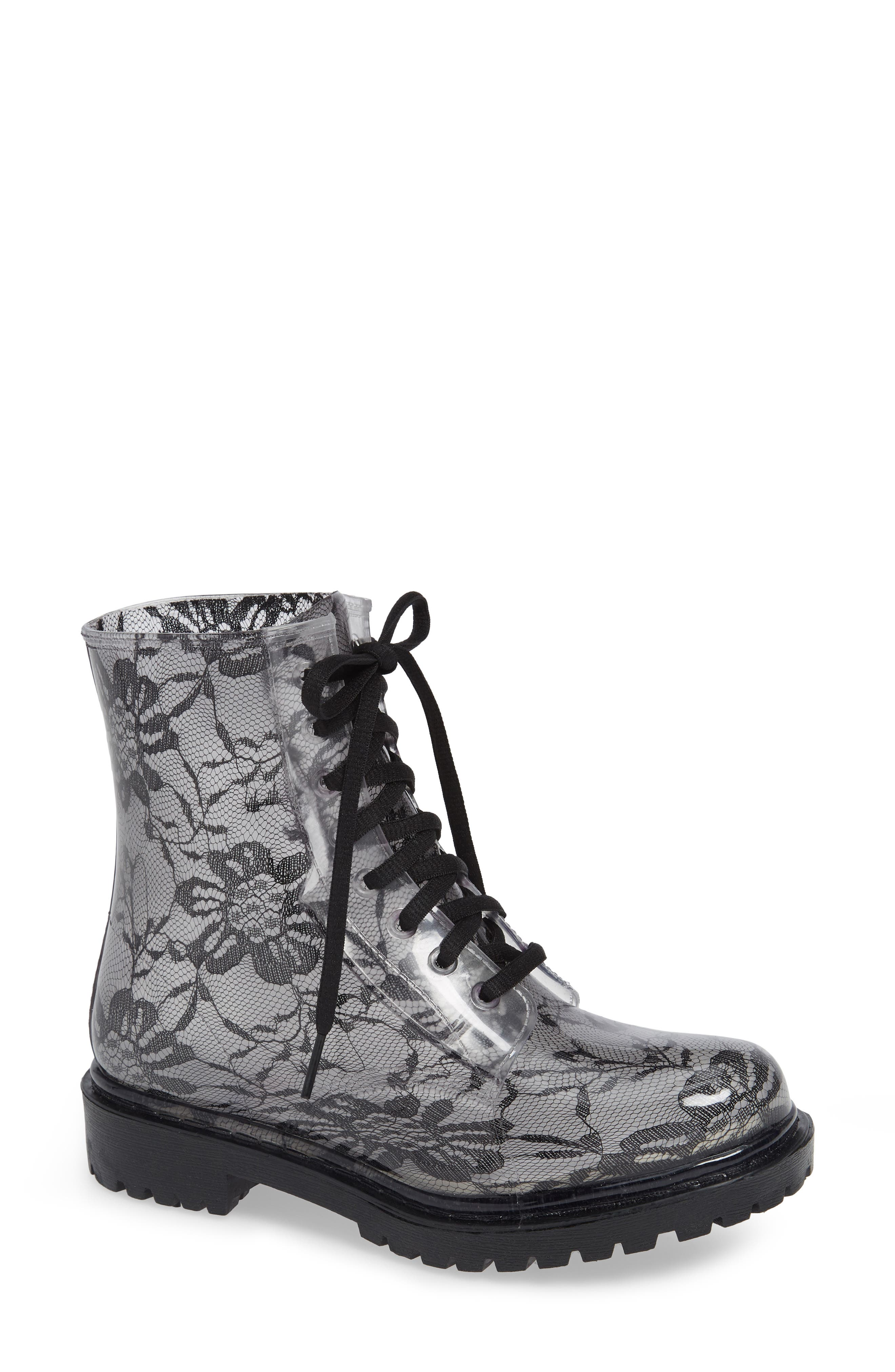 Charlie Waterproof Boot,                             Main thumbnail 1, color,                             BLACK LACE