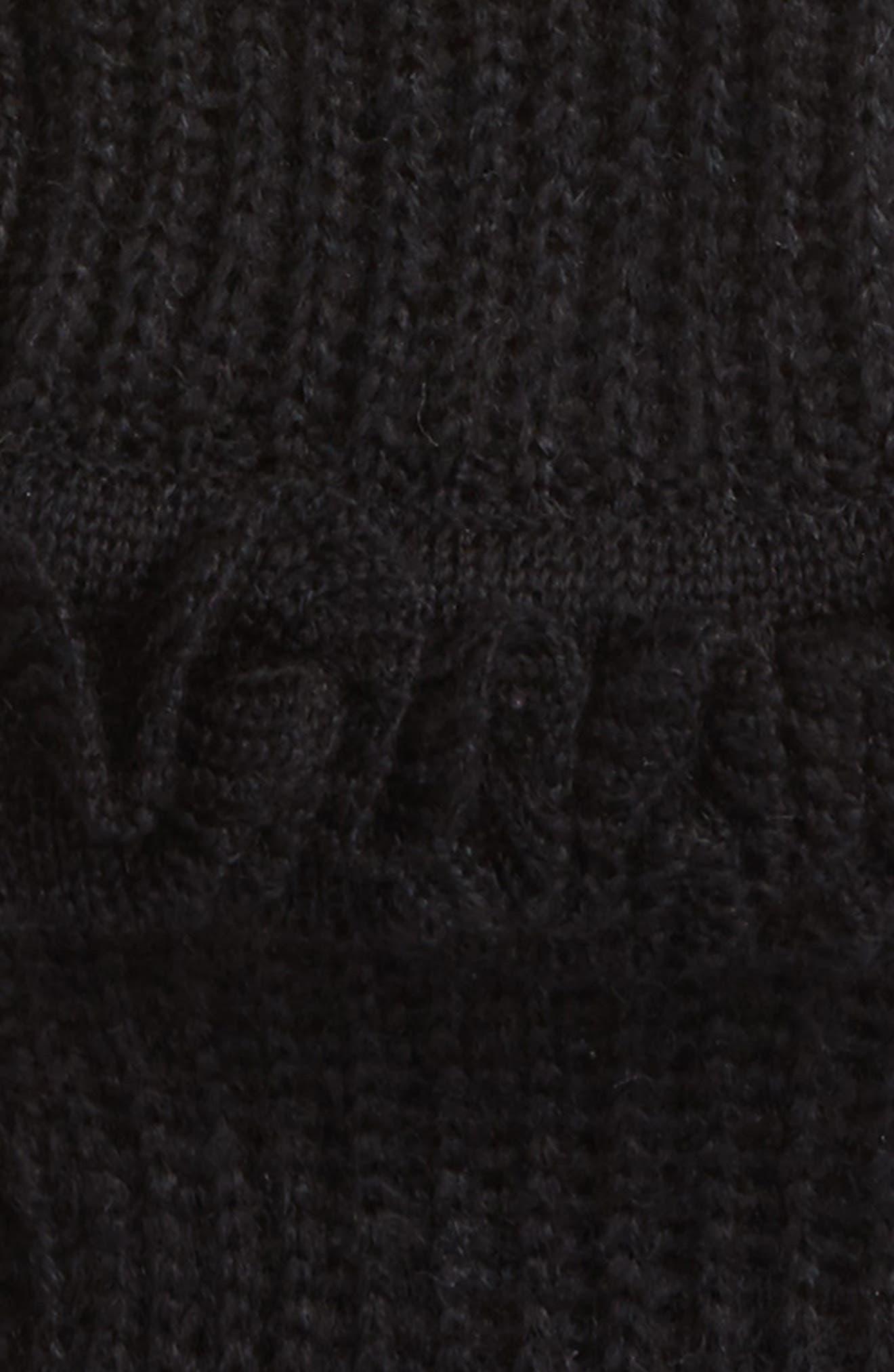 Ruffle Fingerless Gloves,                             Alternate thumbnail 2, color,                             001