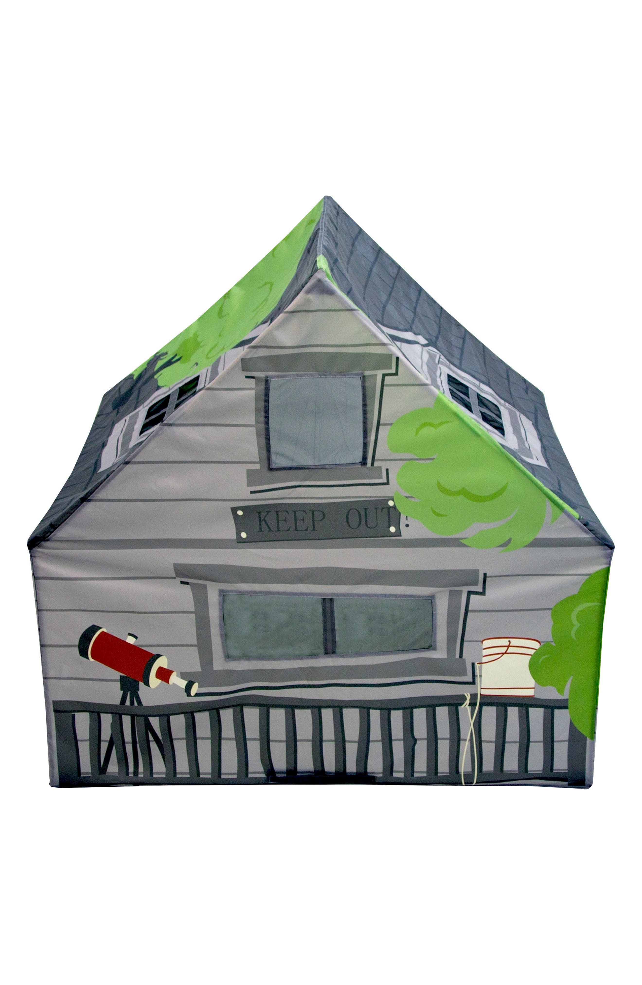 Treehouse Hideaway Playhouse Tent,                             Alternate thumbnail 2, color,                             GREEN