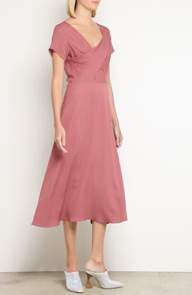 Asymmetrical Fold Bodice Dress, video thumbnail