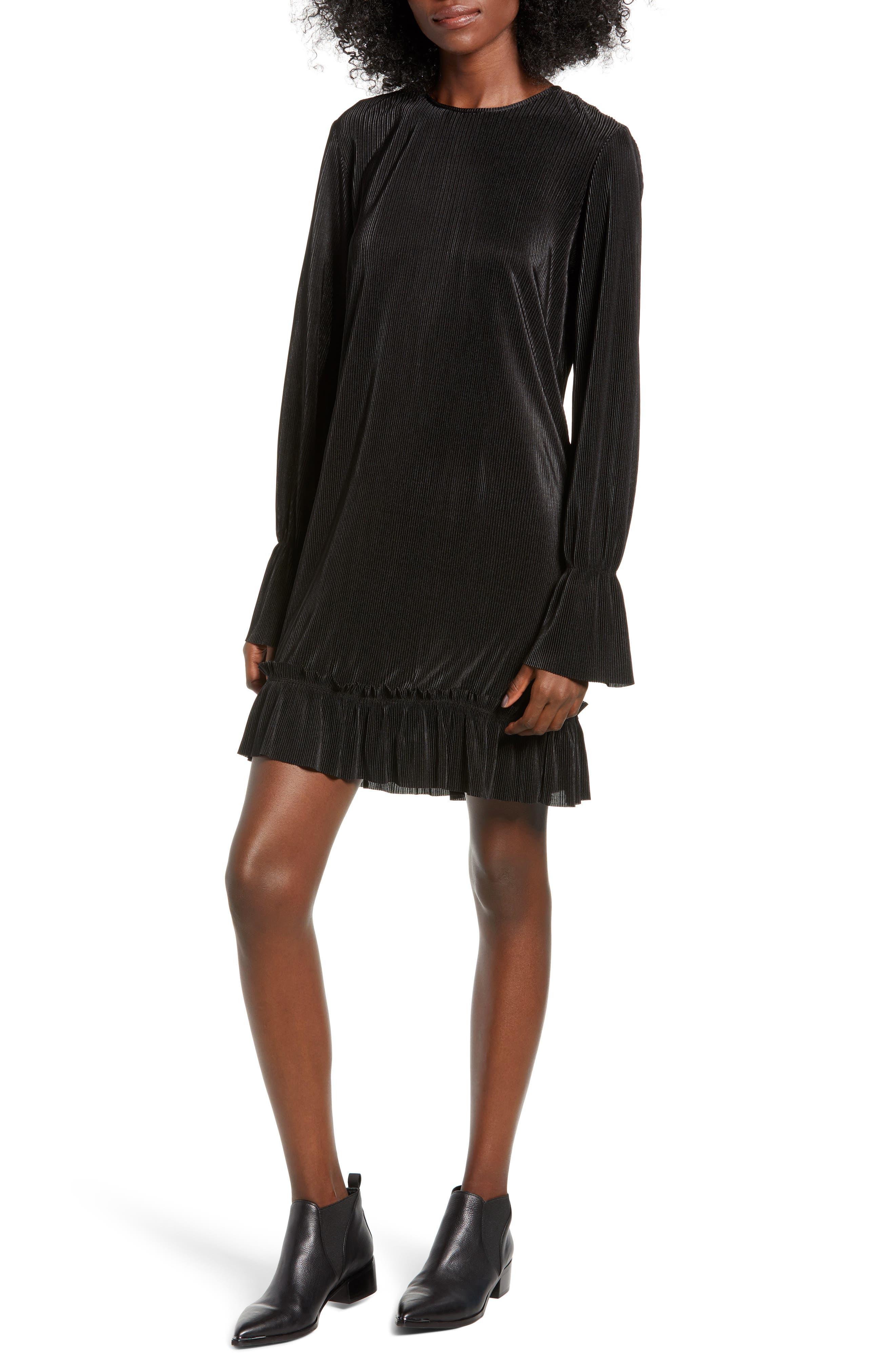 The Fifth Label Plisse Minidress, Black