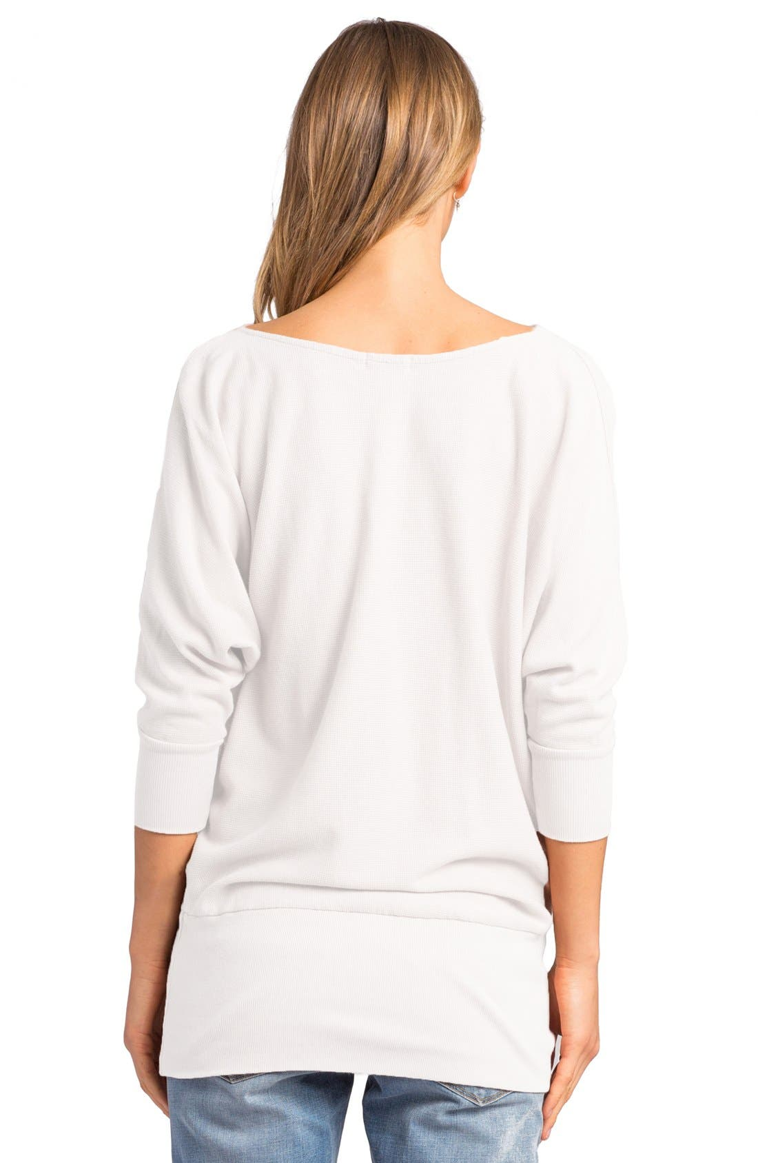 'Aidan' Drape Neck Thermal Top,                             Alternate thumbnail 8, color,