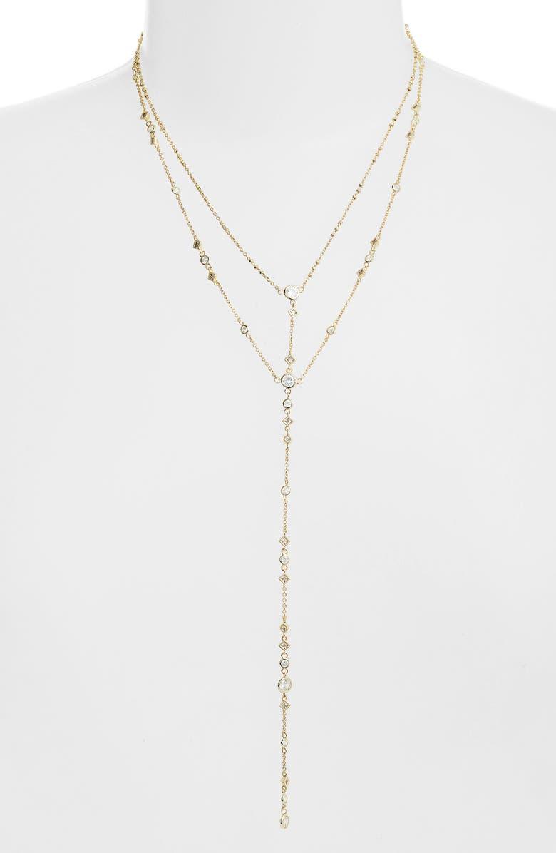 Kendra Scott Watson Double Tassel Pendant Necklace, 28 In Gold