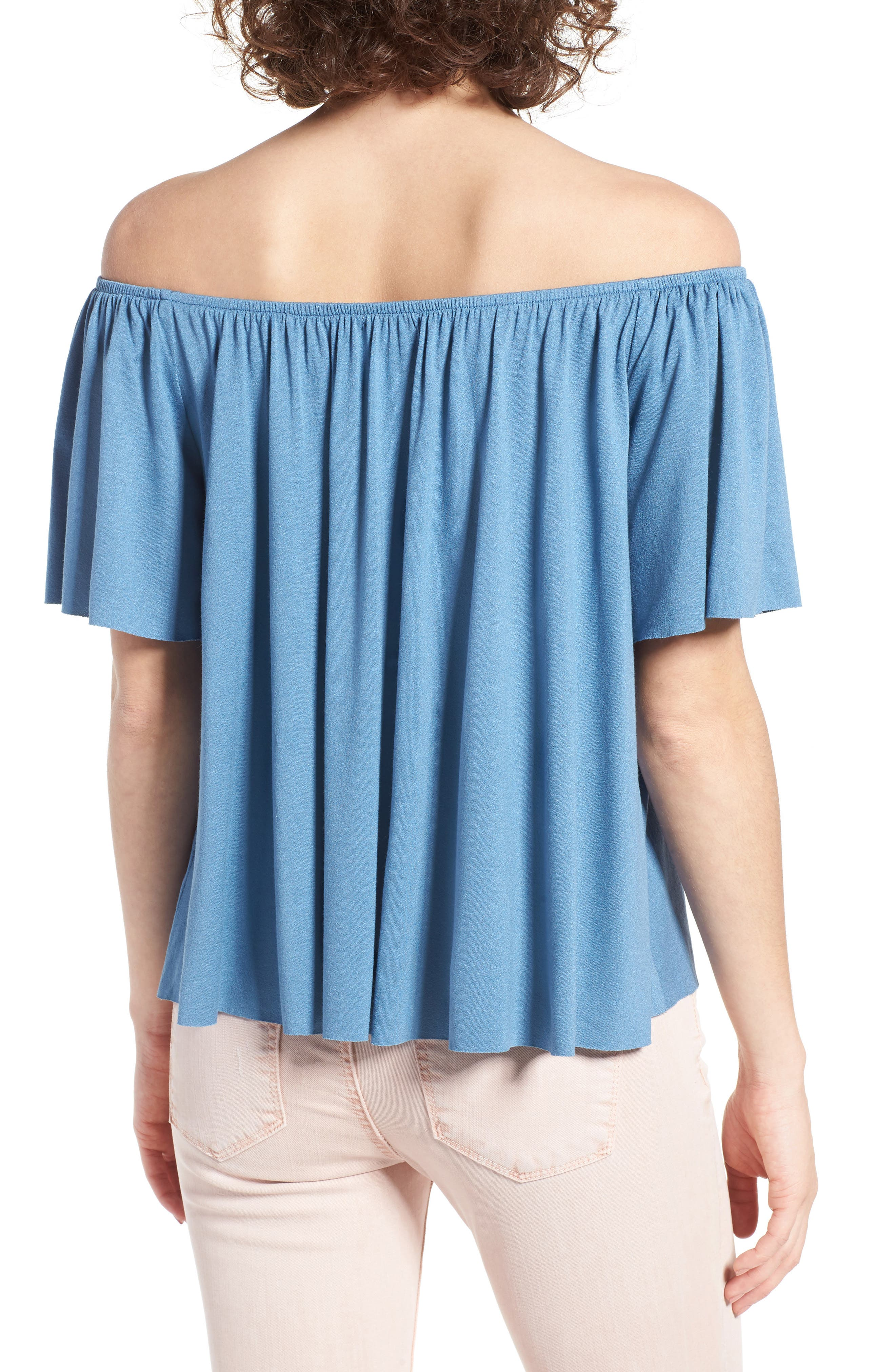 Off the Shoulder Top,                             Alternate thumbnail 14, color,