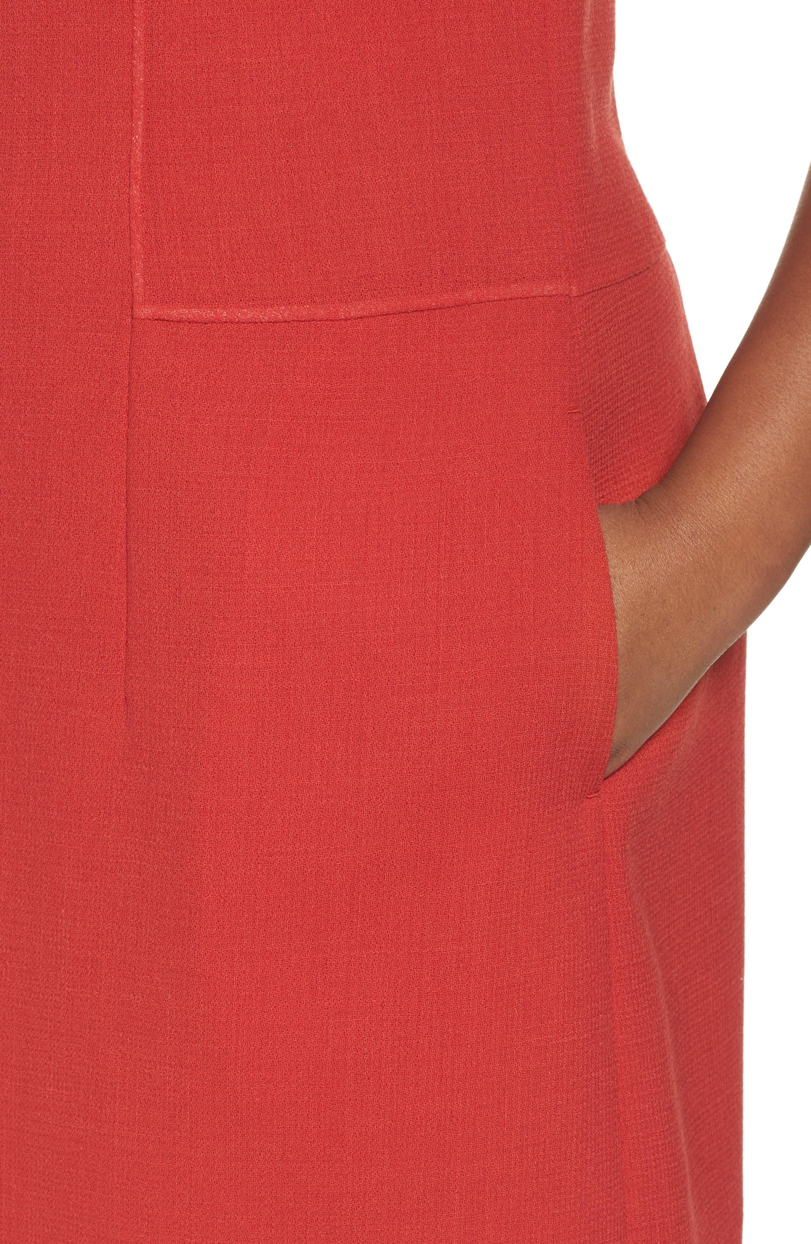 Selita Nouveau Crepe Dress,                             Alternate thumbnail 4, color,                             892