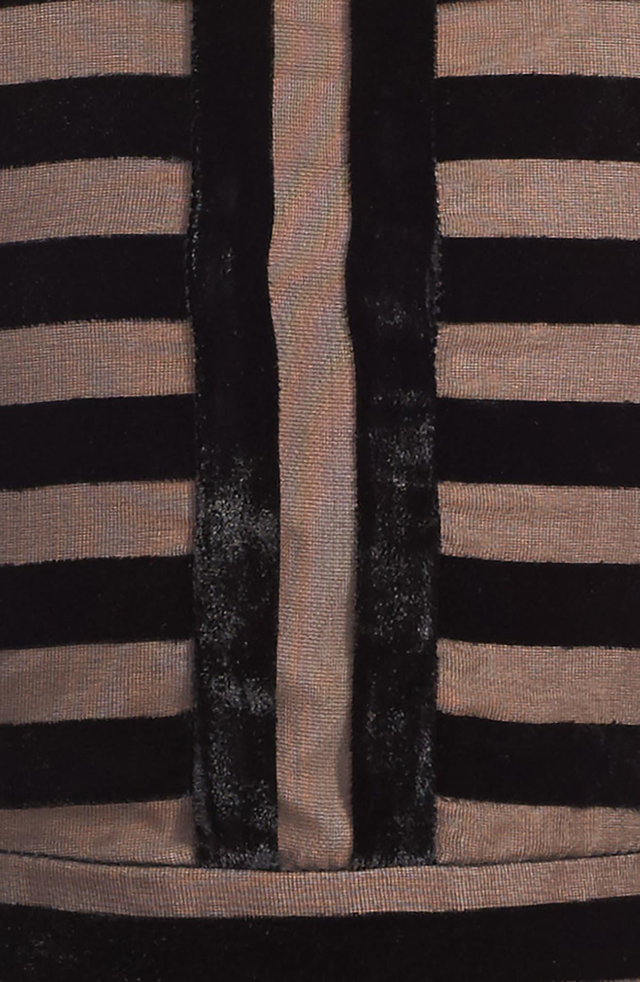 Linear Stripe Dress,                             Alternate thumbnail 3, color,                             001