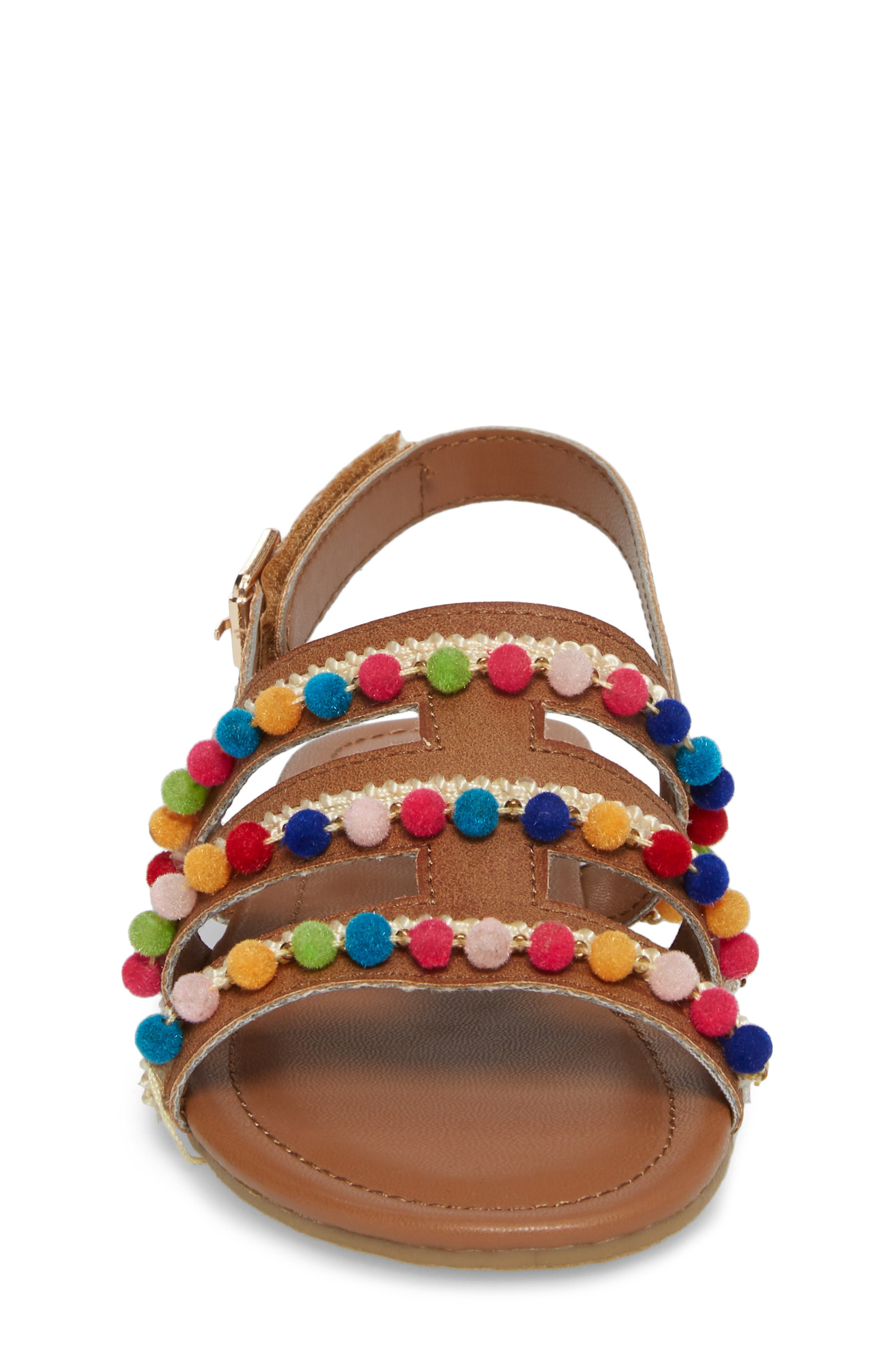 Kiera Pom Embellished Sandal,                             Alternate thumbnail 4, color,                             259