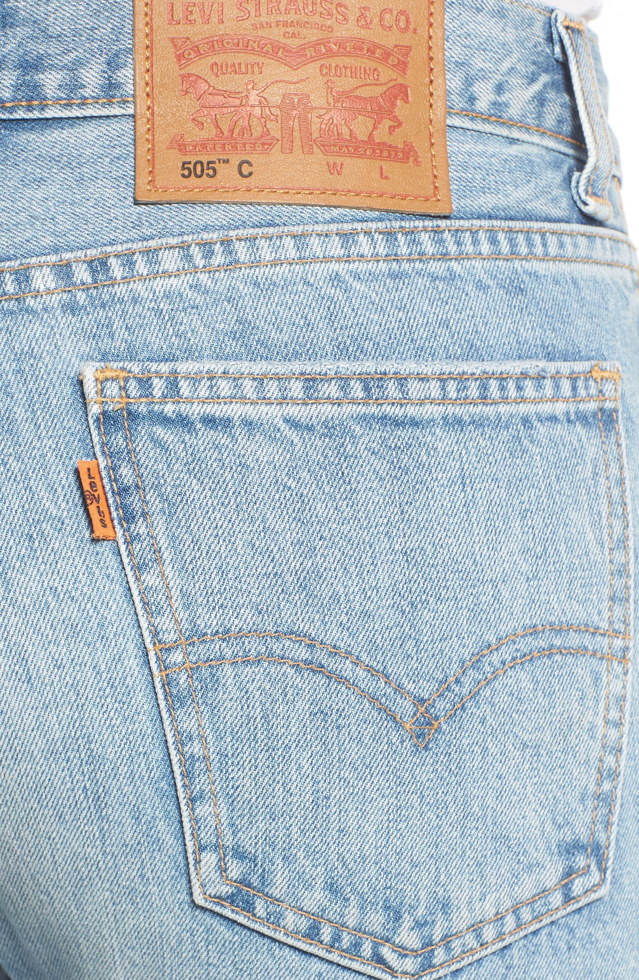 505<sup>™</sup>C Crop Straight Leg Jeans,                             Alternate thumbnail 4, color,                             450