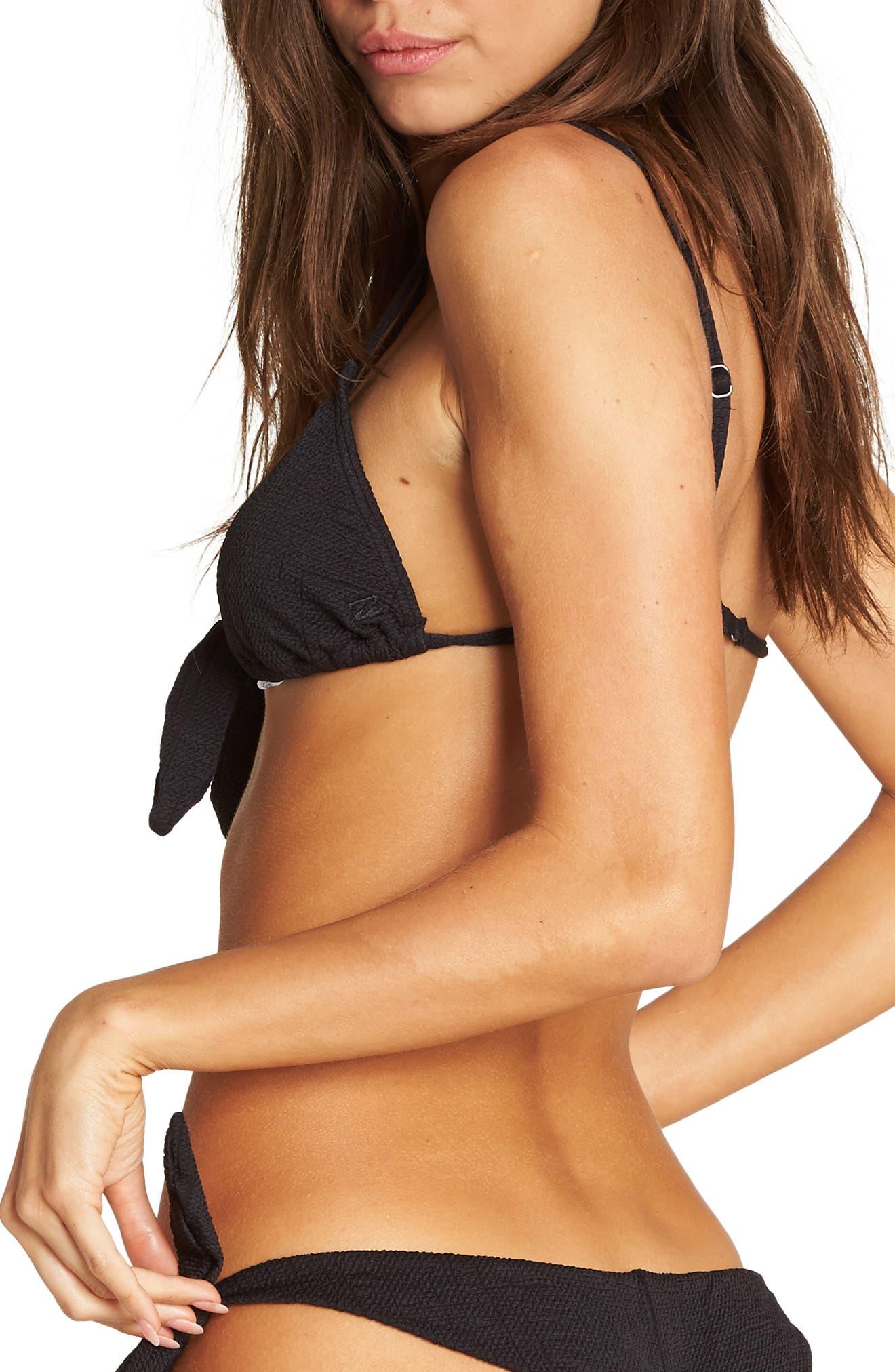 Sweet Sands Triangle Bikini Top,                             Alternate thumbnail 2, color,                             BLACK PEBBLE