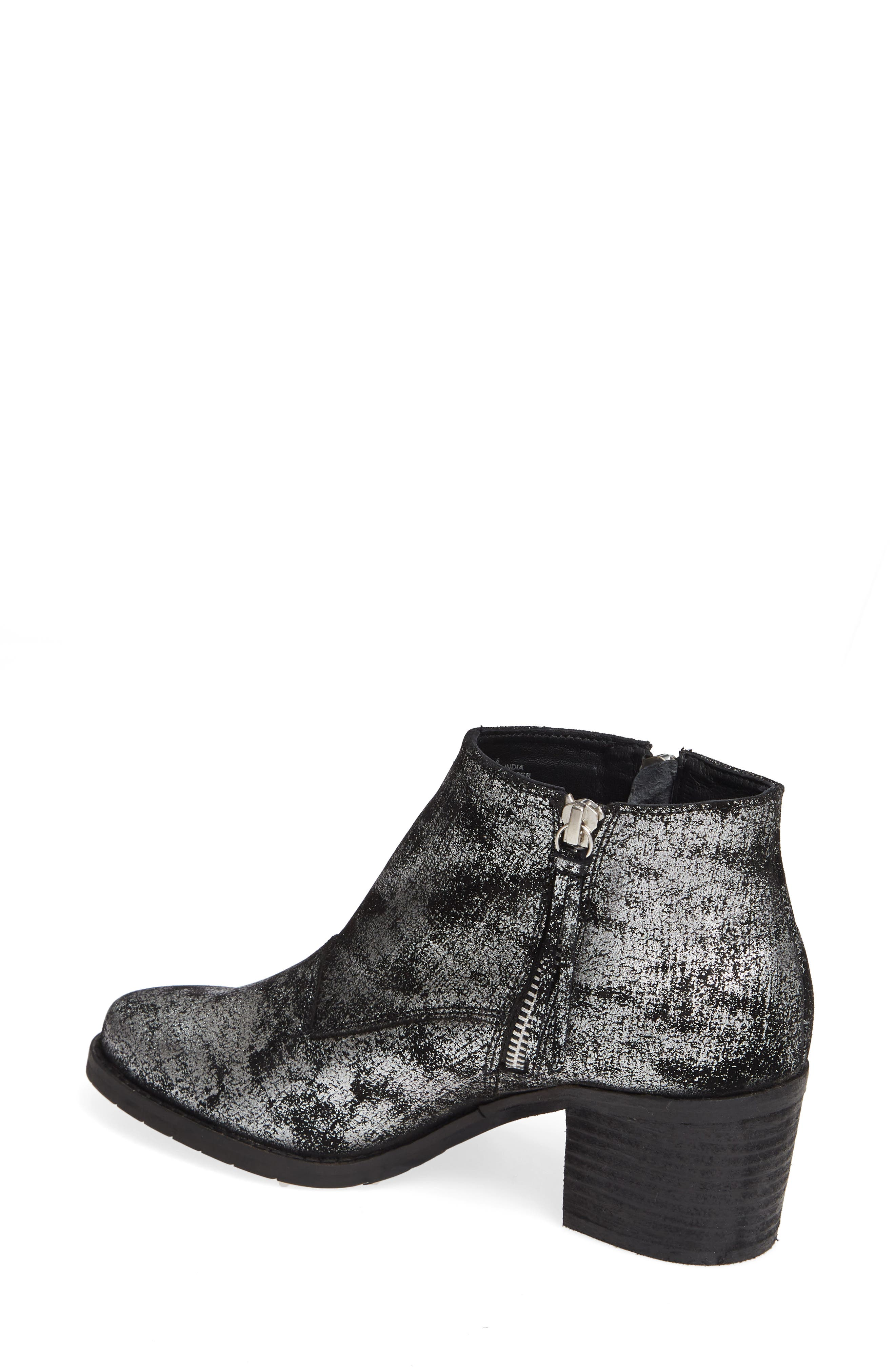 SBICCA,                             Frontage Double Zip Bootie,                             Alternate thumbnail 2, color,                             PEWTER LEATHER