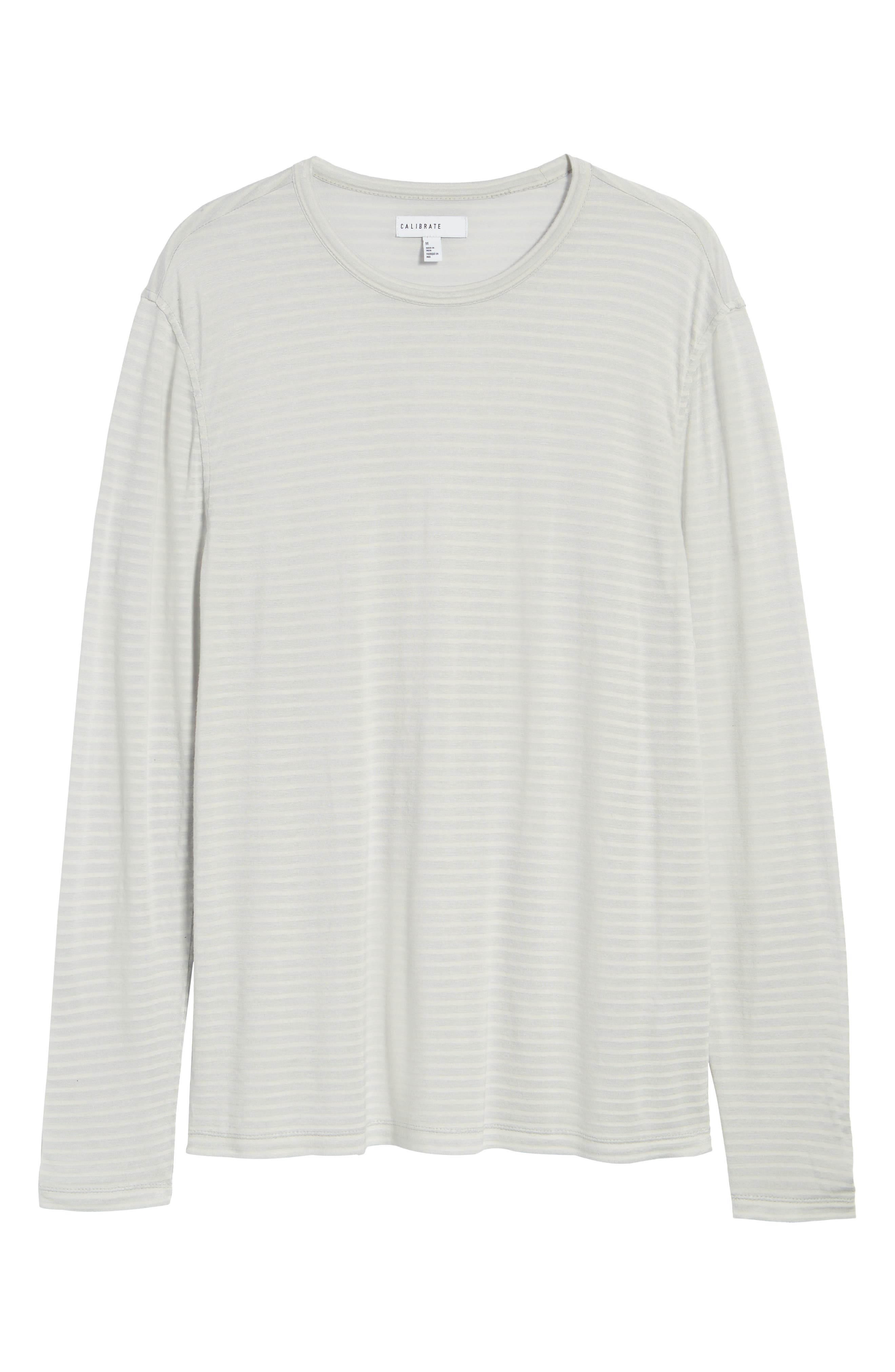 Texture Stripe Long Sleeve T-Shirt,                             Alternate thumbnail 6, color,                             050