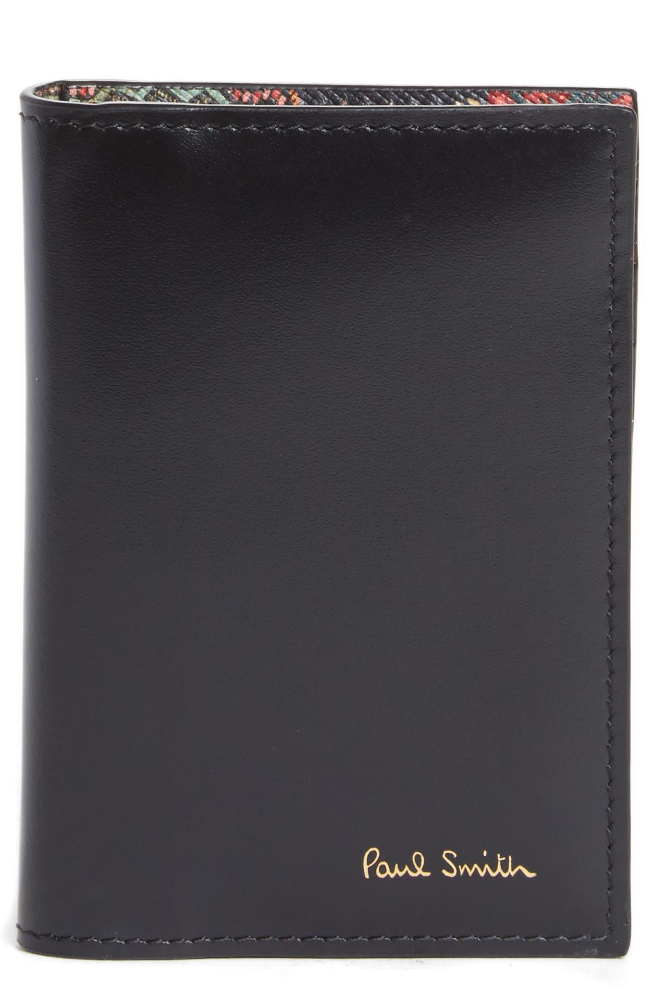 Horniman Print Leather Wallet,                             Main thumbnail 1, color,                             001