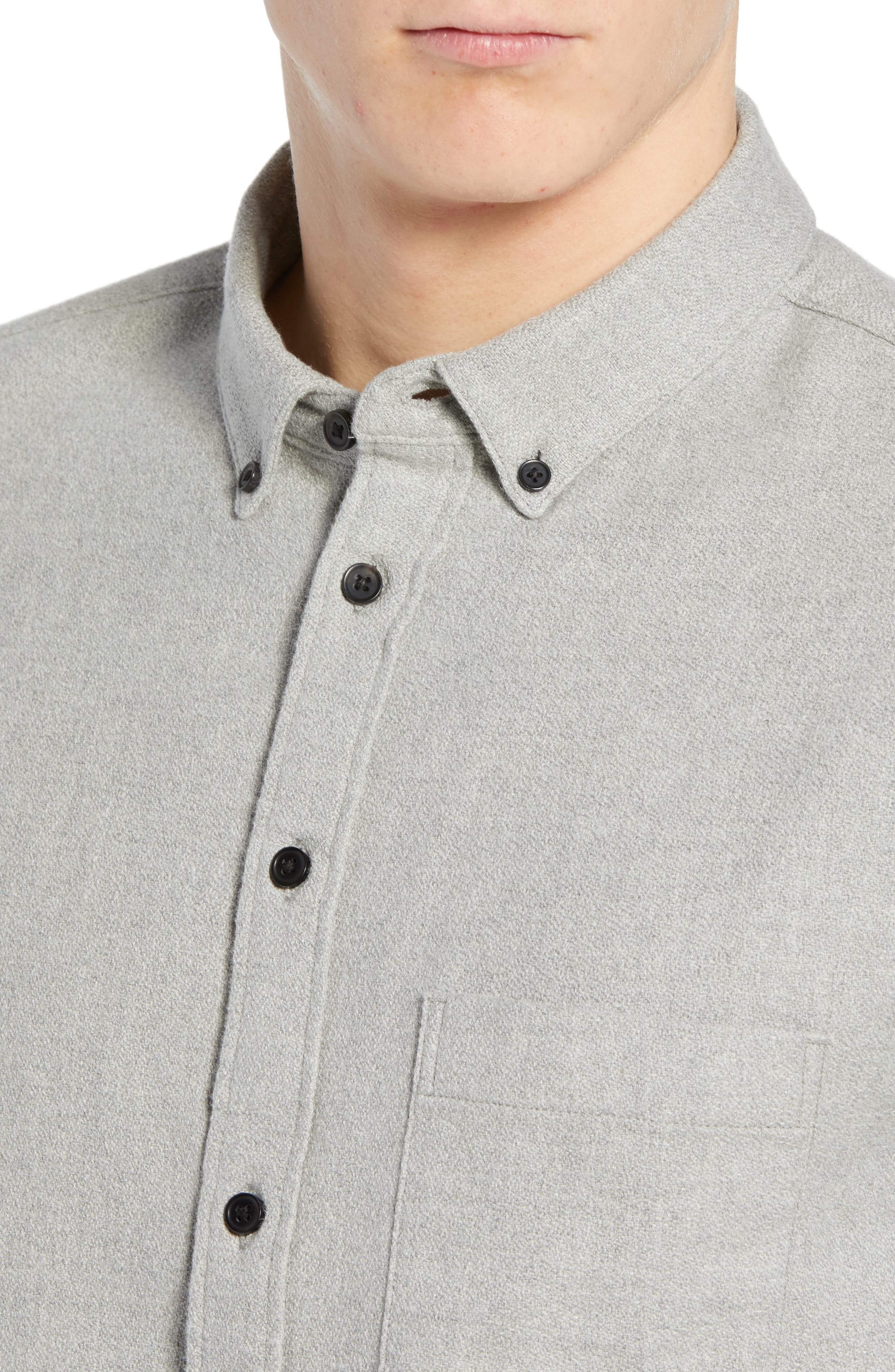 Levi's<sup>®</sup> Made & Crafted Regular Fit Mélange Shirt,                             Alternate thumbnail 2, color,                             020