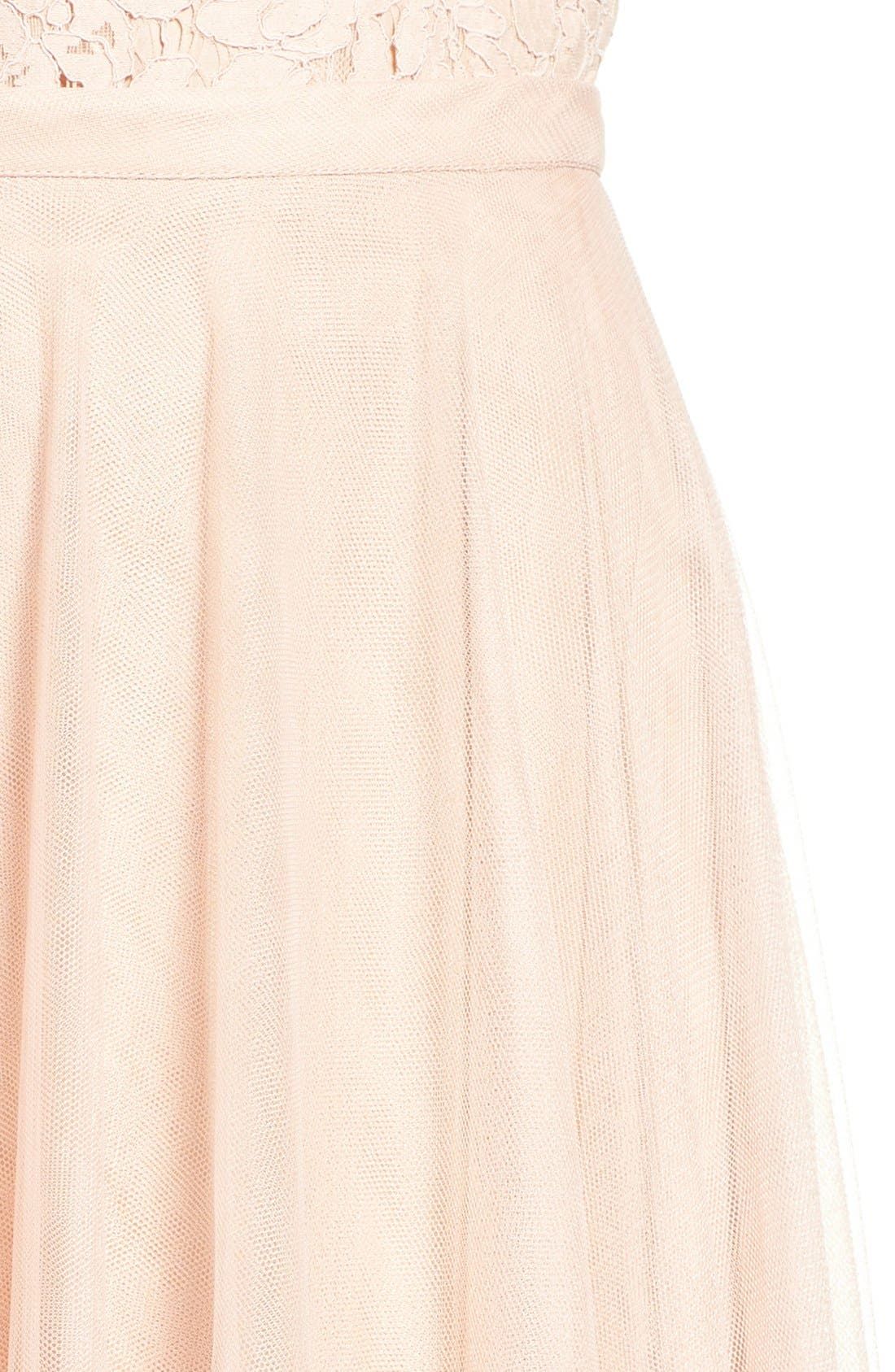 Winslow Long Tulle A-Line Skirt,                             Alternate thumbnail 10, color,                             CAMEO PINK