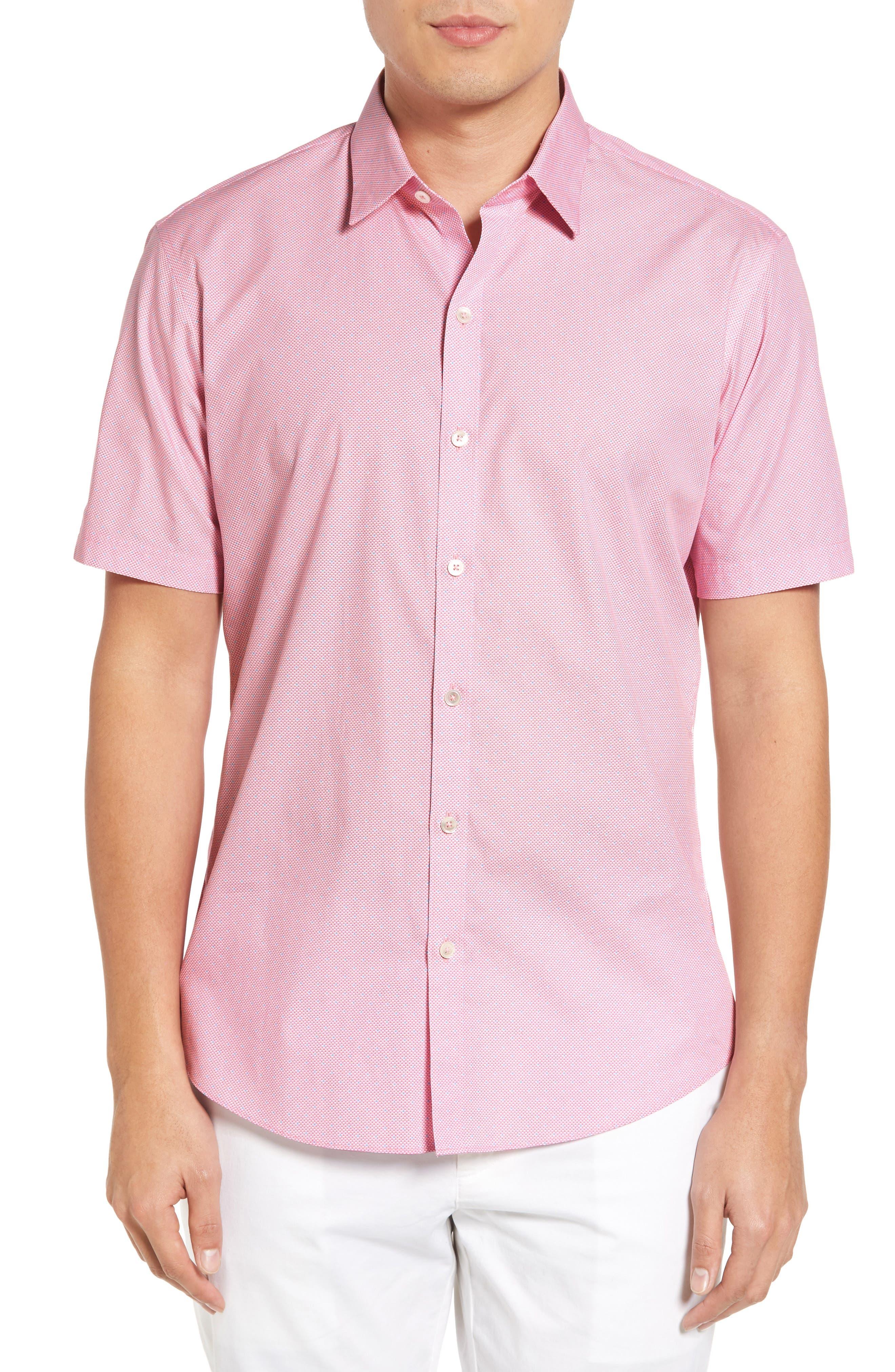 Dardano Trim Fit Print Sport Shirt,                         Main,                         color, 650