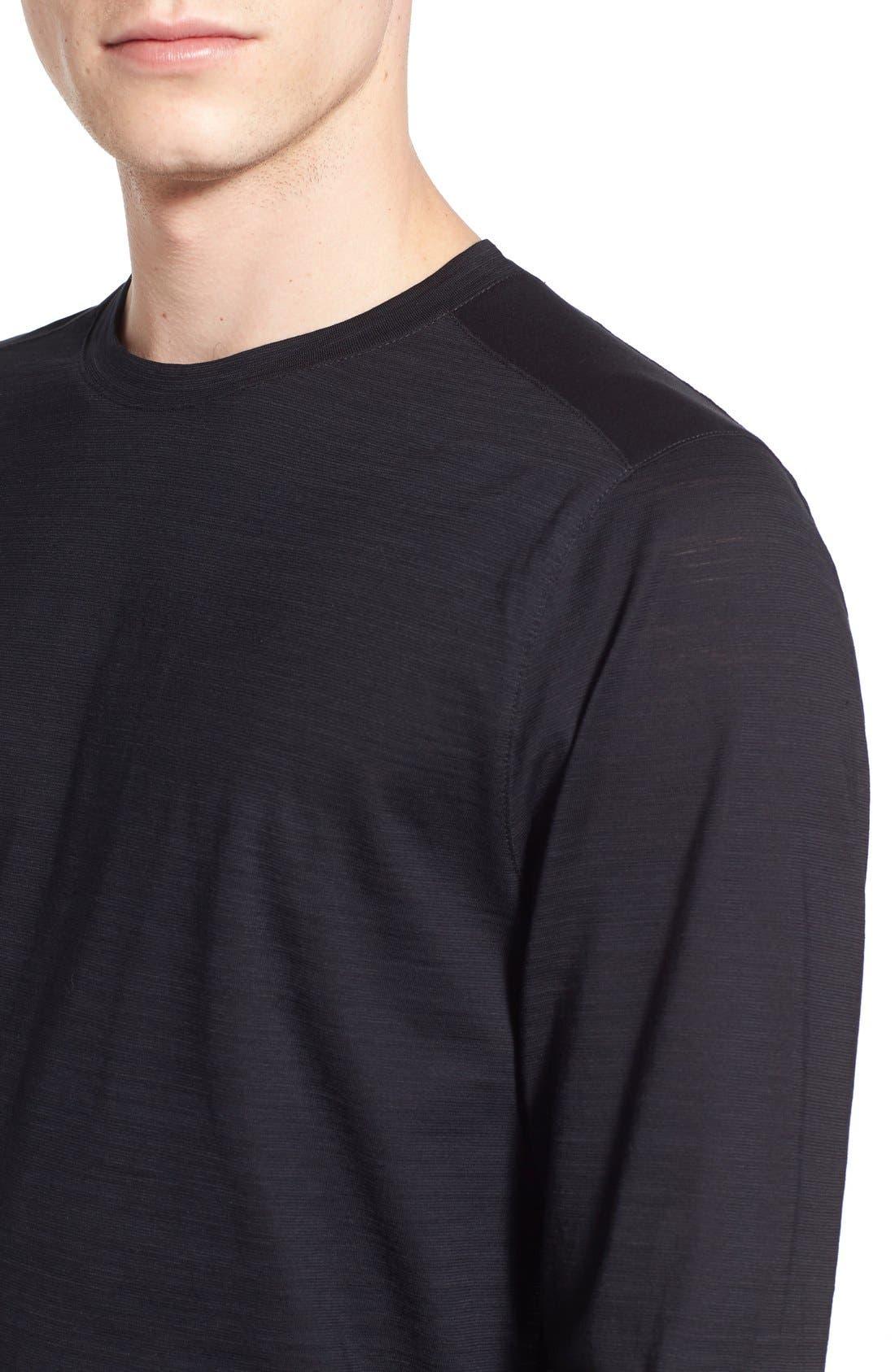 'Tenison' Slim Fit Long Sleeve T-Shirt,                             Alternate thumbnail 4, color,                             001