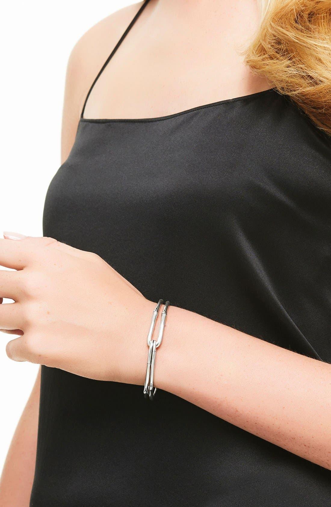 'Bamboo' Silver Hook Bracelet,                             Alternate thumbnail 2, color,