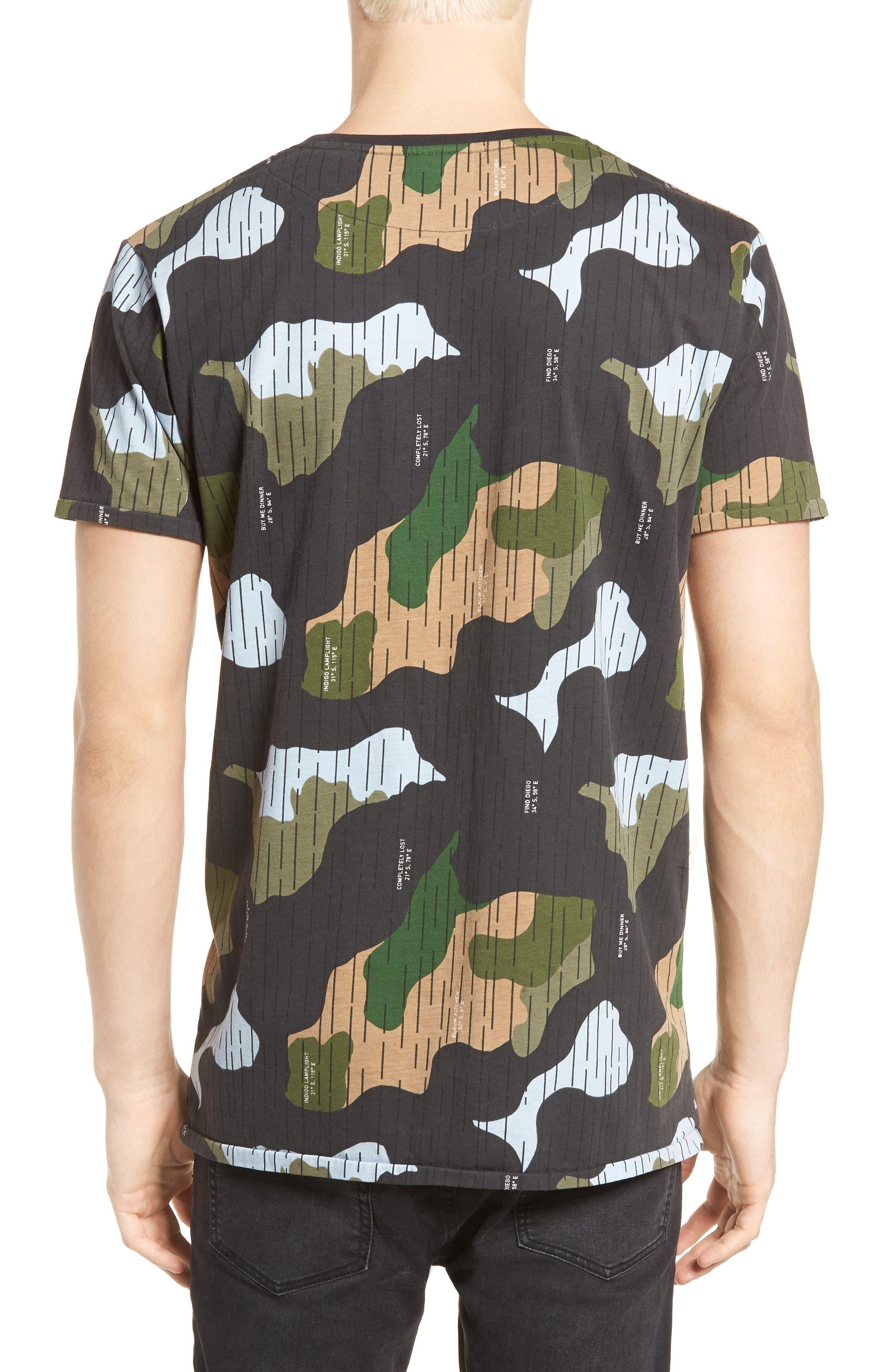Camo Print T-Shirt,                             Alternate thumbnail 2, color,                             CAMO