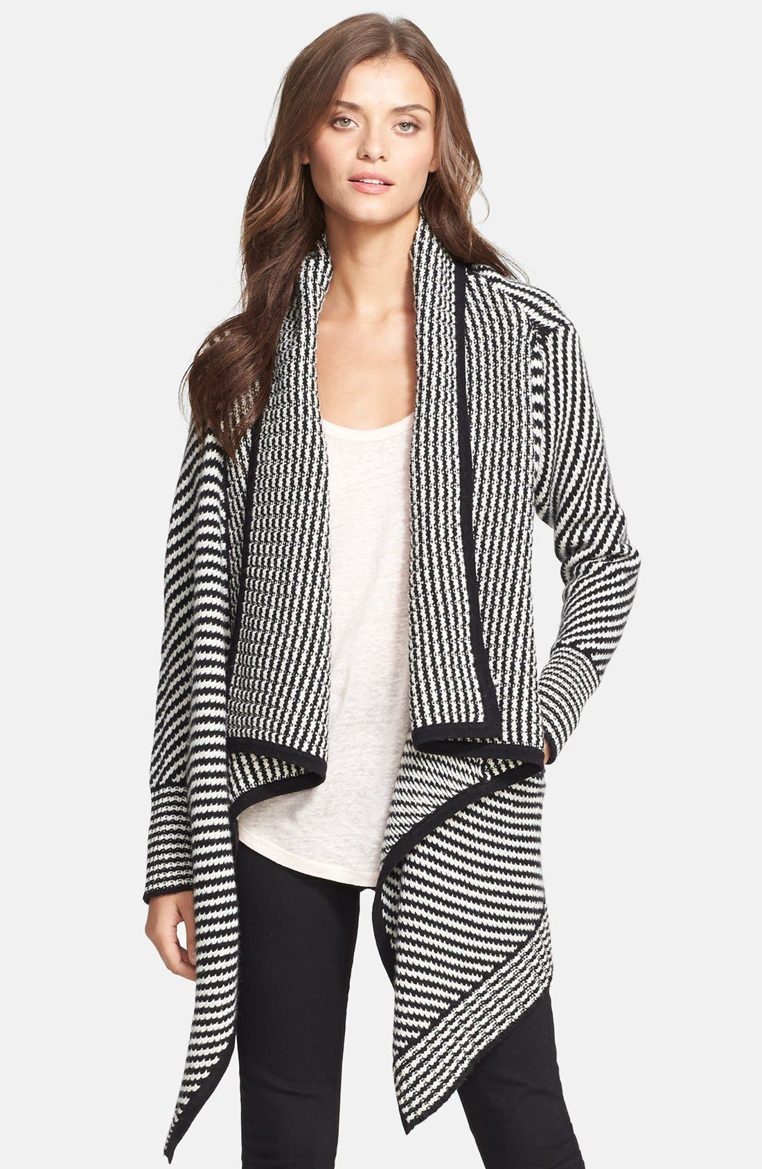 JOIE,                             'Mathisa' Open Front Wool & Cashmere Cardigan,                             Main thumbnail 1, color,                             004