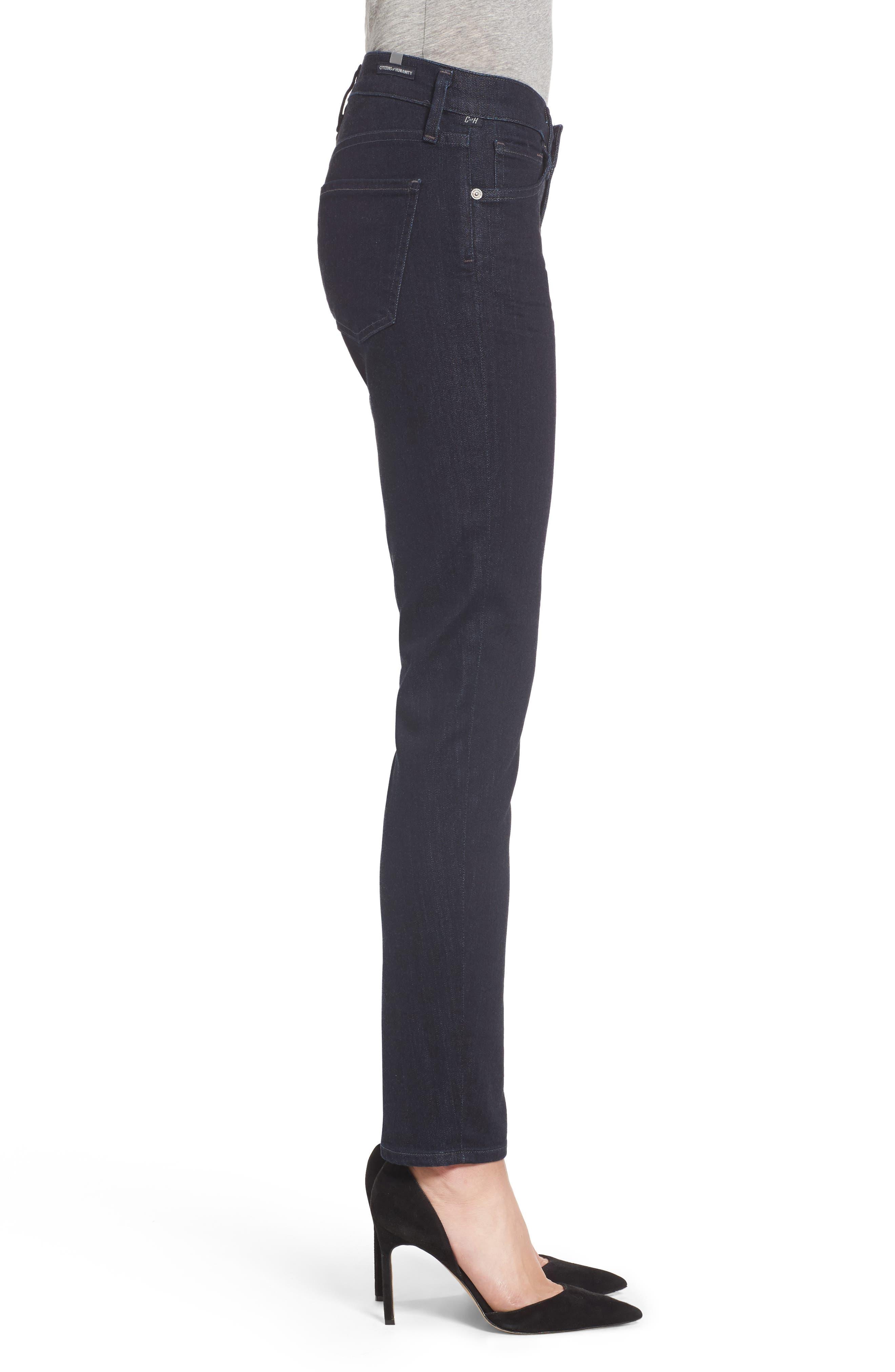 Arielle Slim Jeans,                             Alternate thumbnail 3, color,                             403