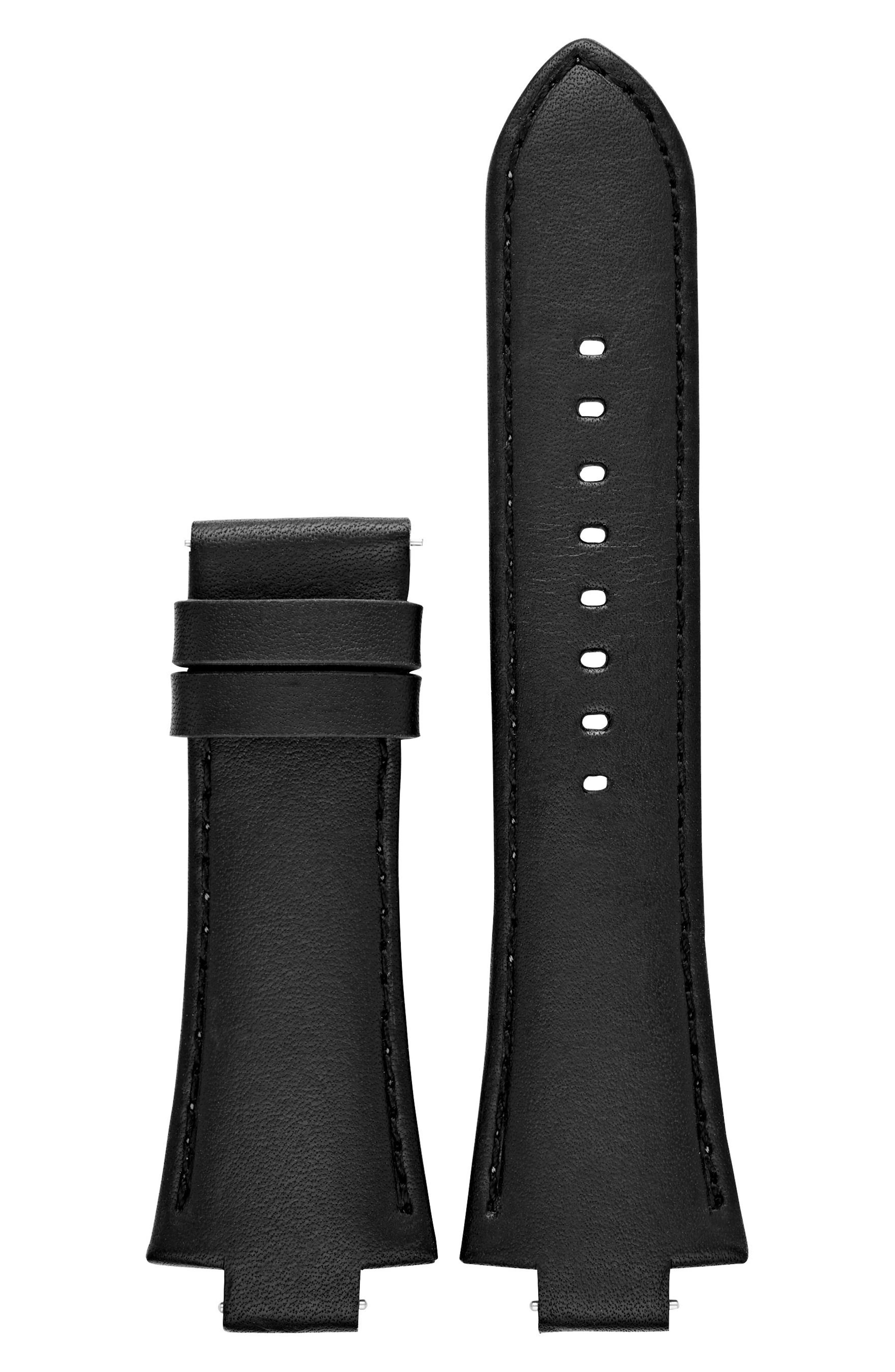 Dylan Interchangeable Leather Strap,                             Alternate thumbnail 3, color,