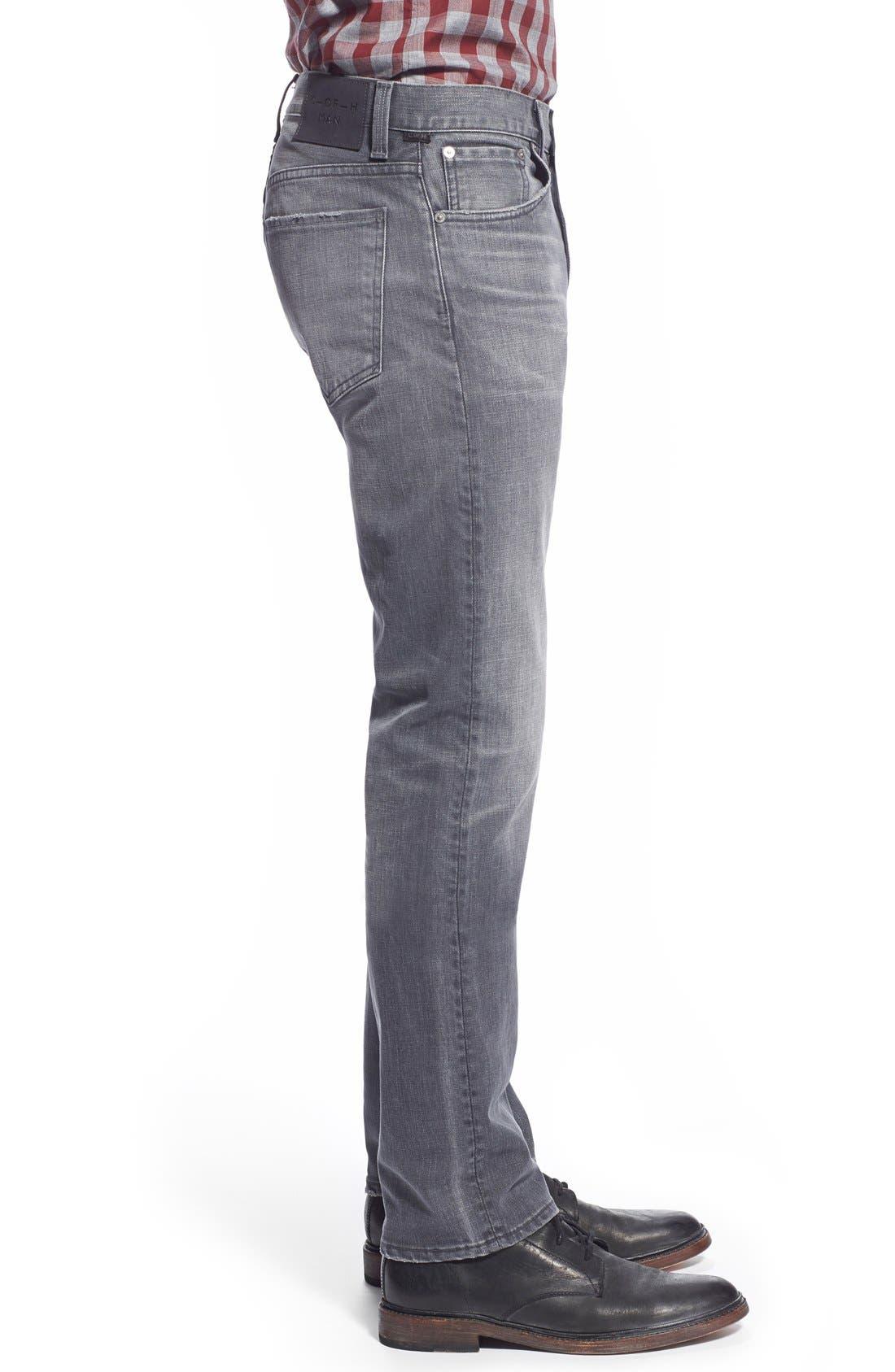 'Core' Slim Straight Leg Jeans,                             Alternate thumbnail 4, color,                             SHAKER HEIGHTS