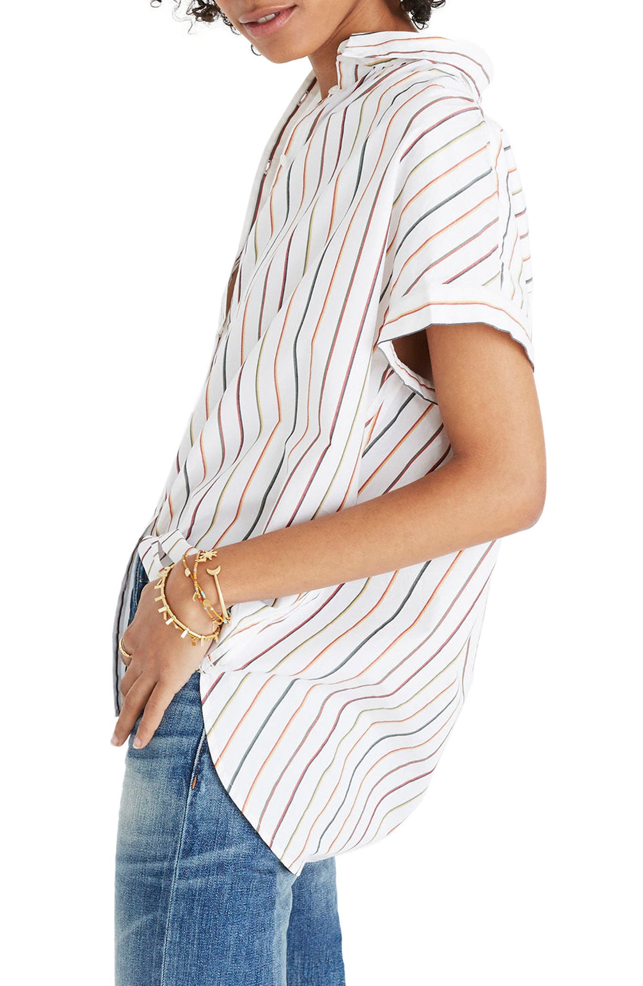 Central Sadie Stripe Shirt,                             Alternate thumbnail 2, color,                             100