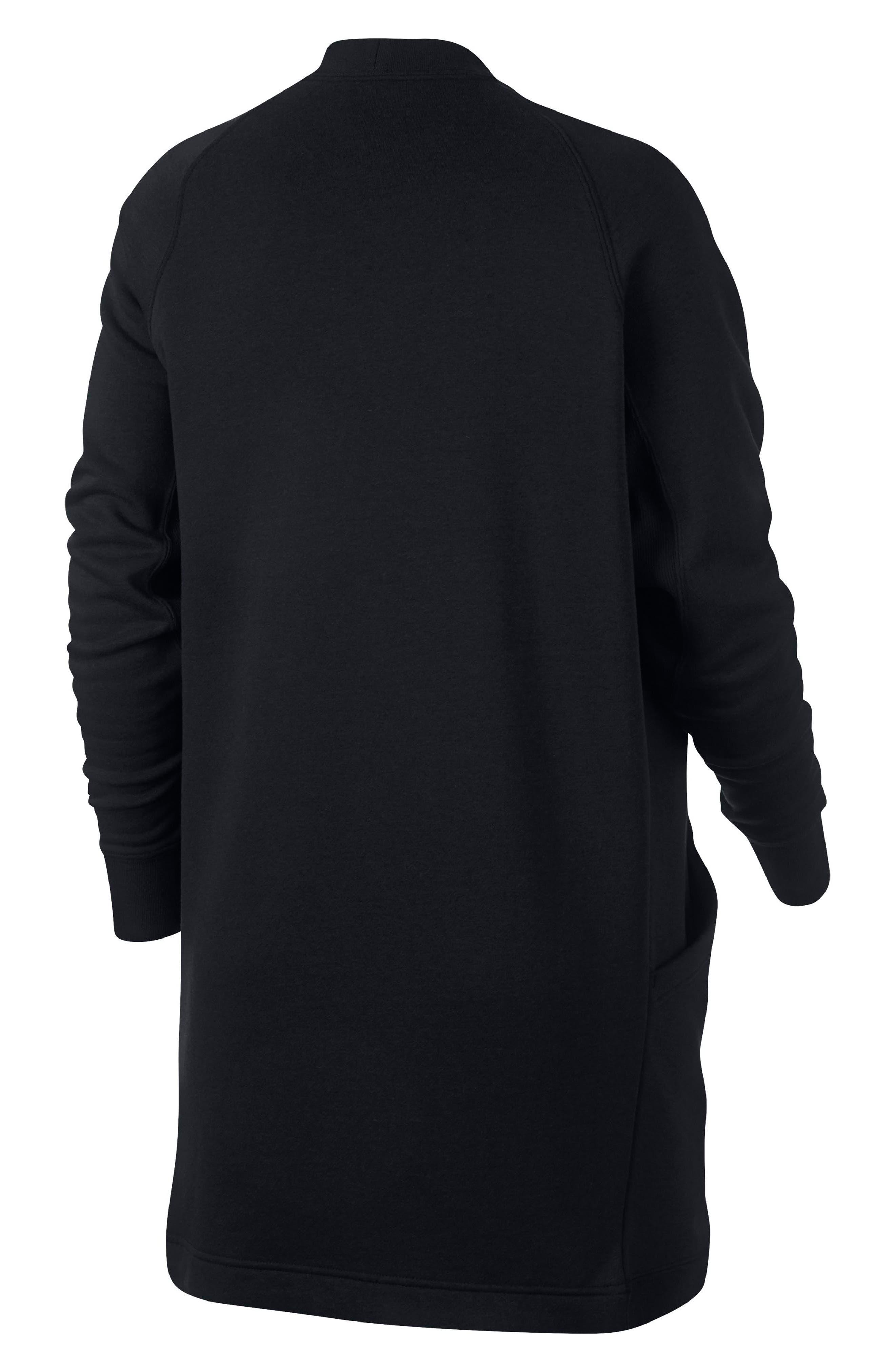 Sportswear Rally Cardigan,                             Alternate thumbnail 6, color,                             BLACK/ BLACK/ WHITE