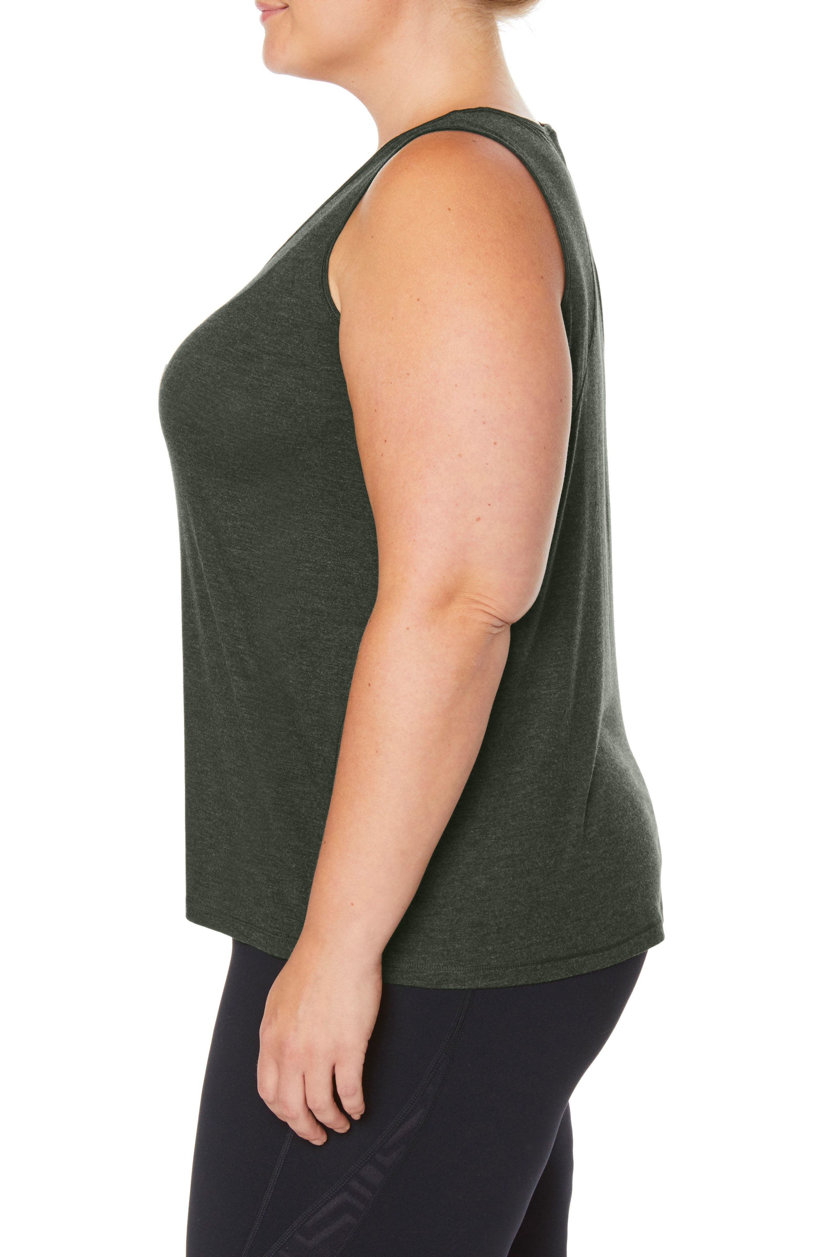 Shape Motion Tank,                             Alternate thumbnail 3, color,                             FOREST NIGHT HEATHER