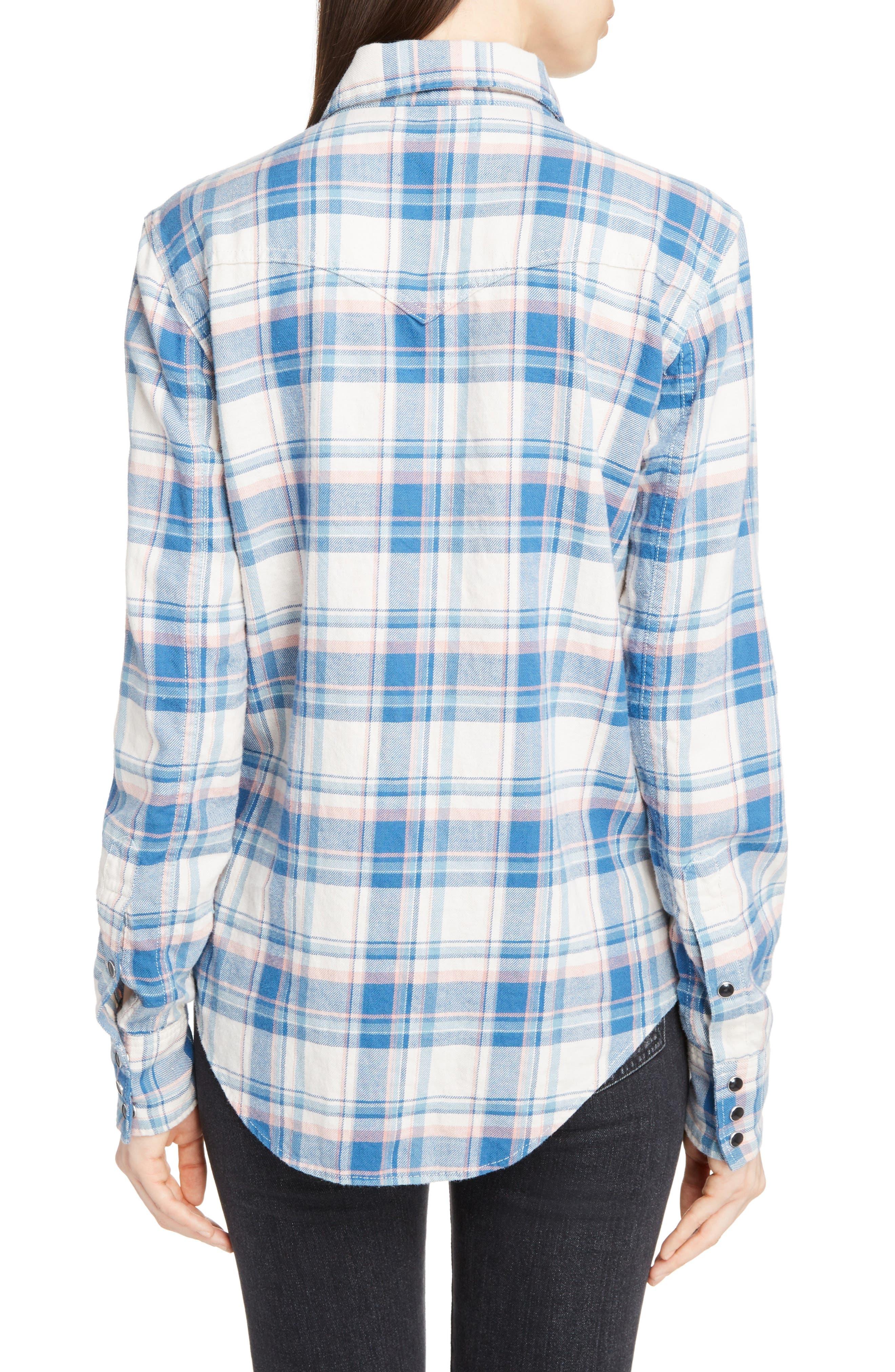 Plaid Western Shirt,                             Alternate thumbnail 2, color,                             482