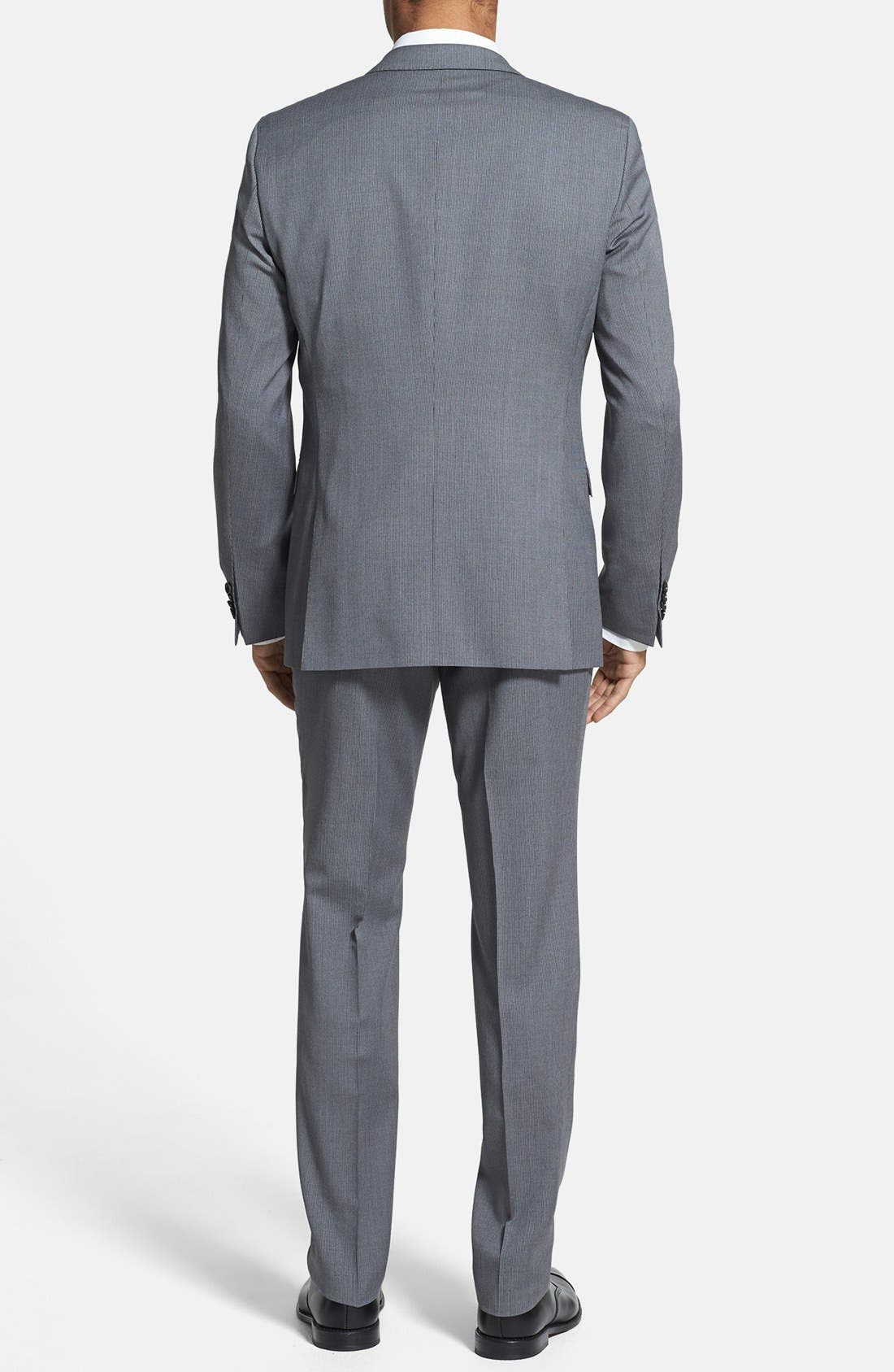 ZZDNUHUGO BOSS,                             BOSS HUGO BOSS 'Ryan/Win' Extra Trim Fit Stripe Suit,                             Alternate thumbnail 4, color,                             030