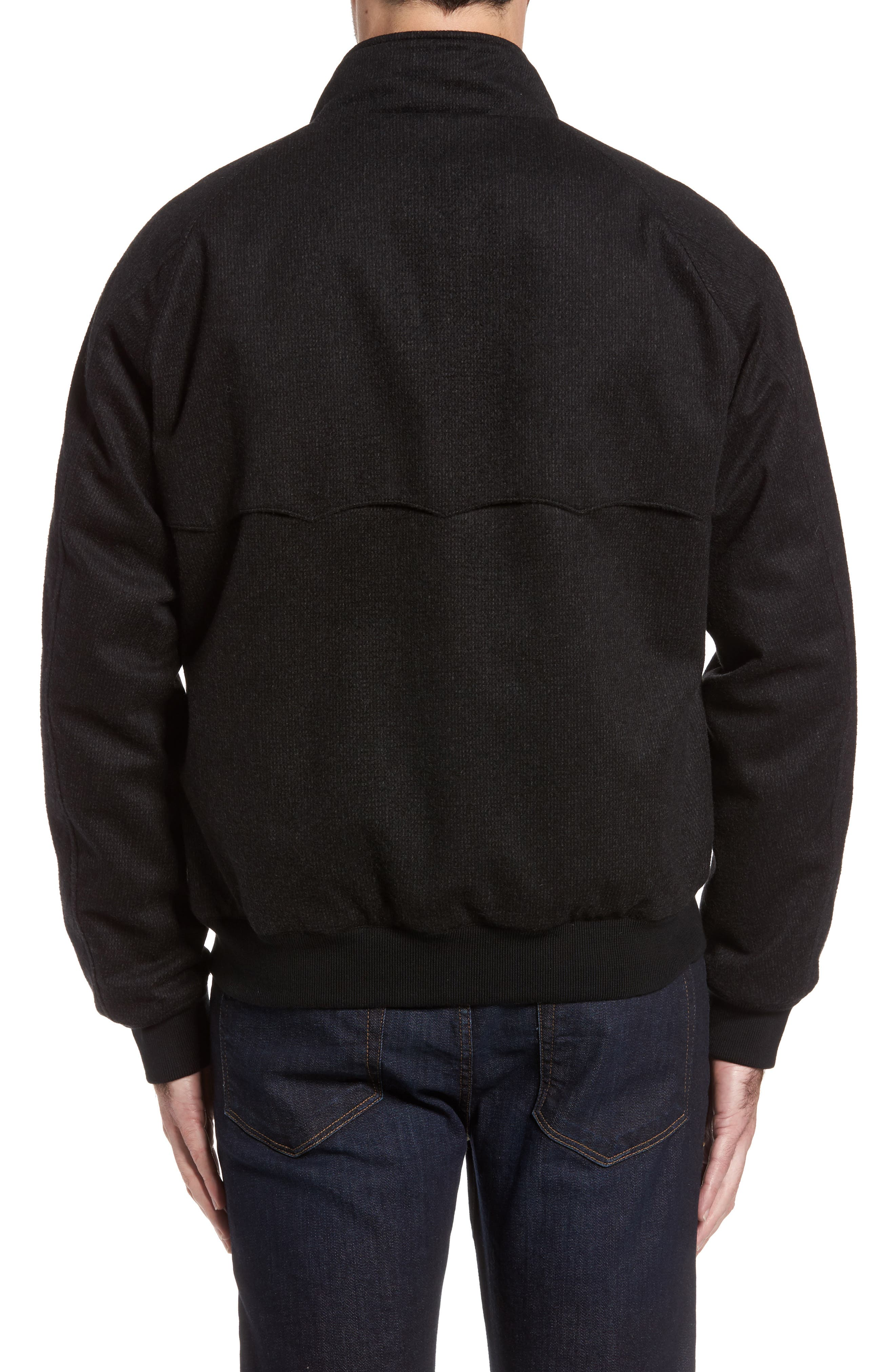 G9 Waterproof Wool Blend Harrington Jacket,                             Alternate thumbnail 2, color,                             020