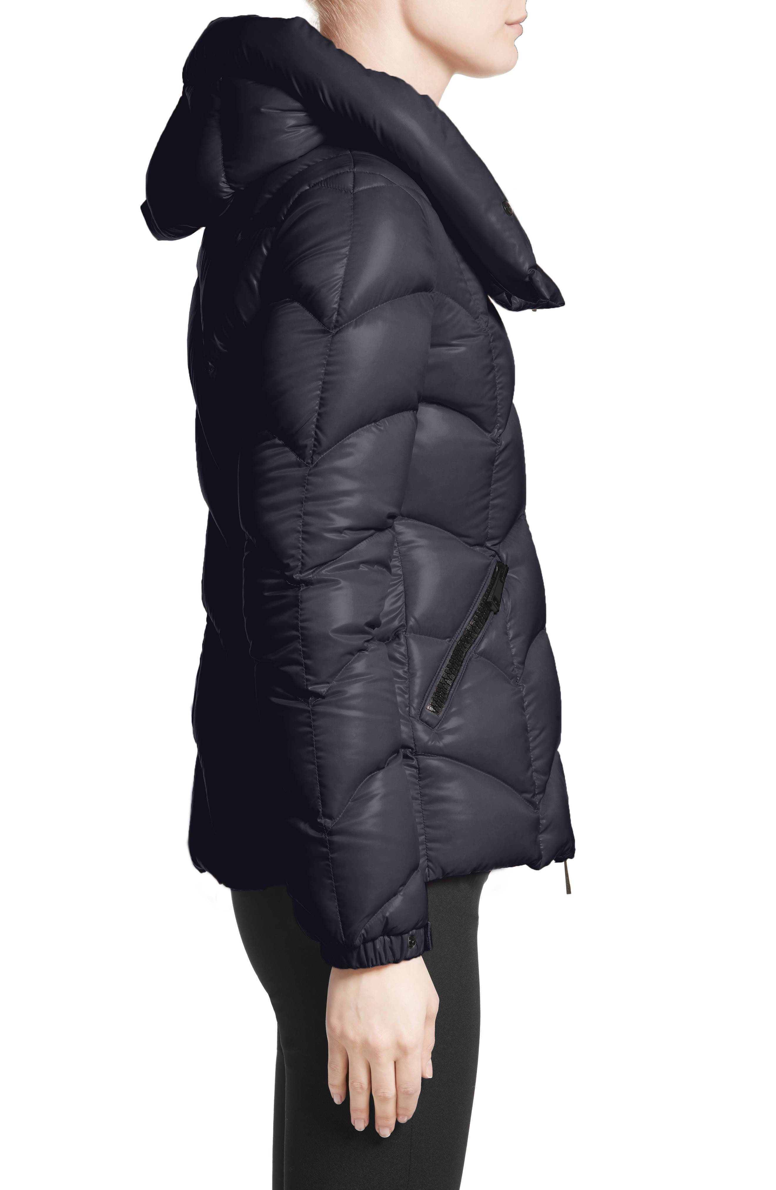 Akebia Quilted Down Jacket,                             Alternate thumbnail 3, color,                             NAVY