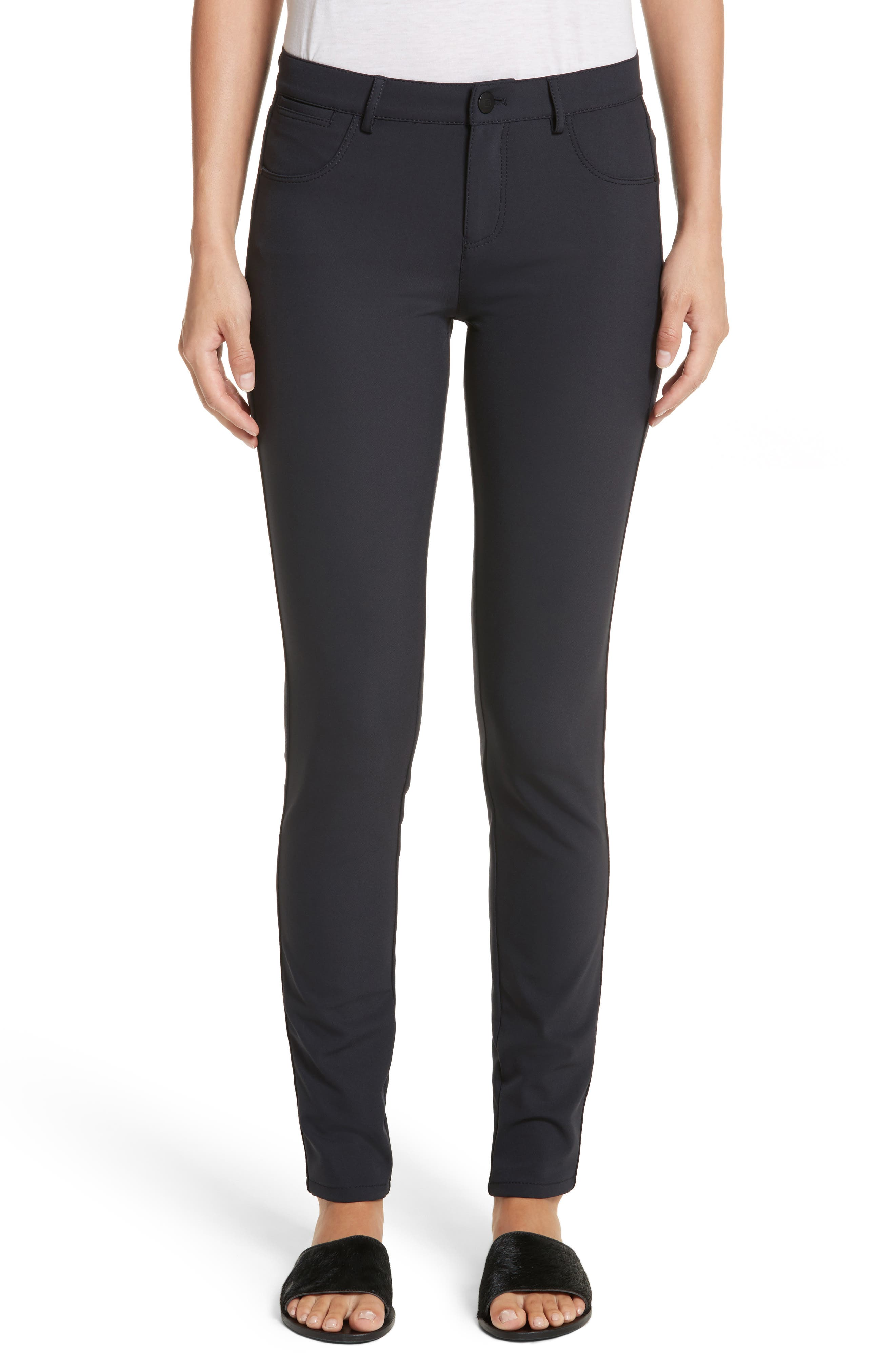 Mercer Acclaimed Stretch Mid-Rise Skinny Jeans in Ink