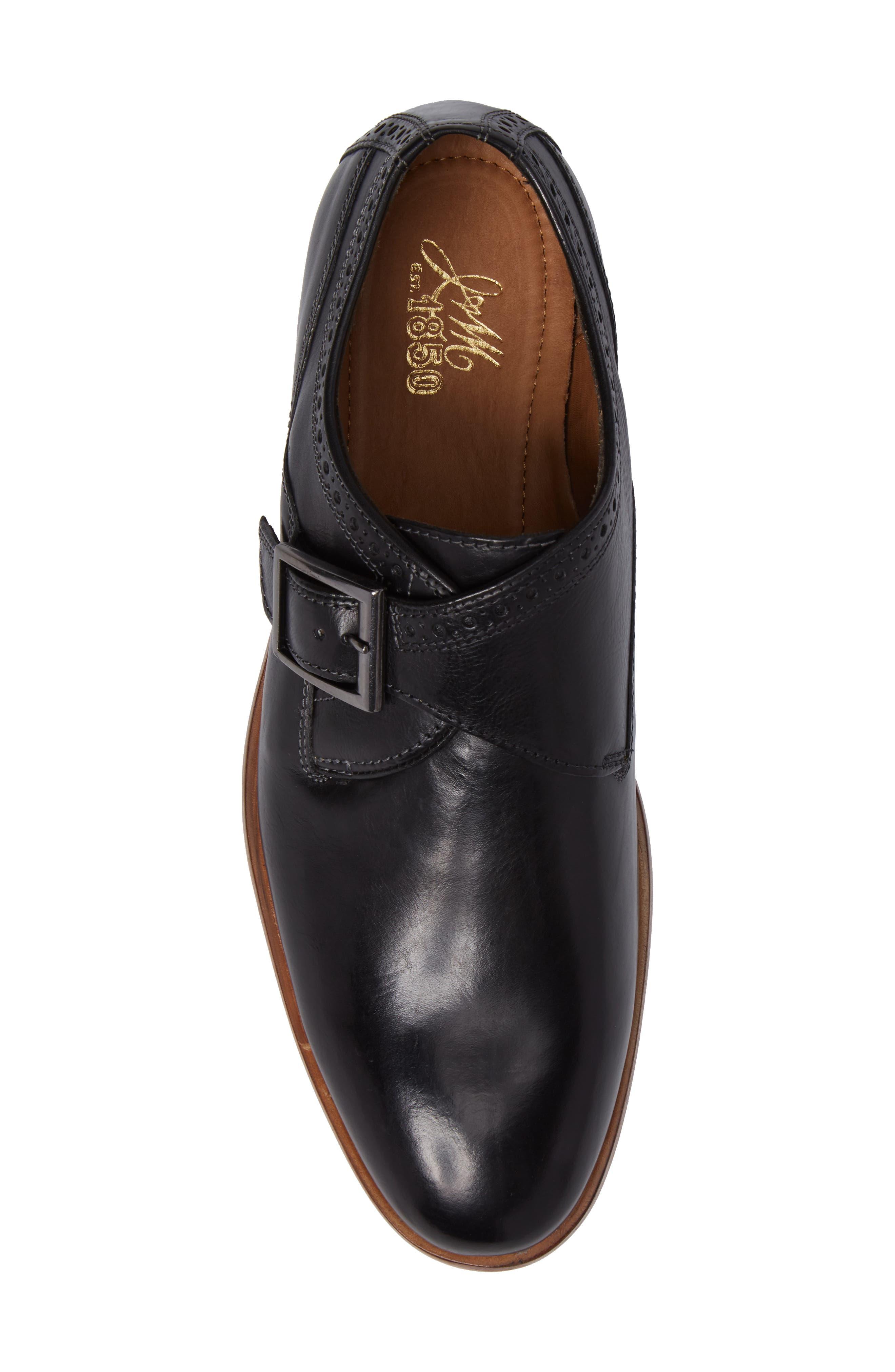 Graham Monk Strap Shoe,                             Alternate thumbnail 5, color,                             001