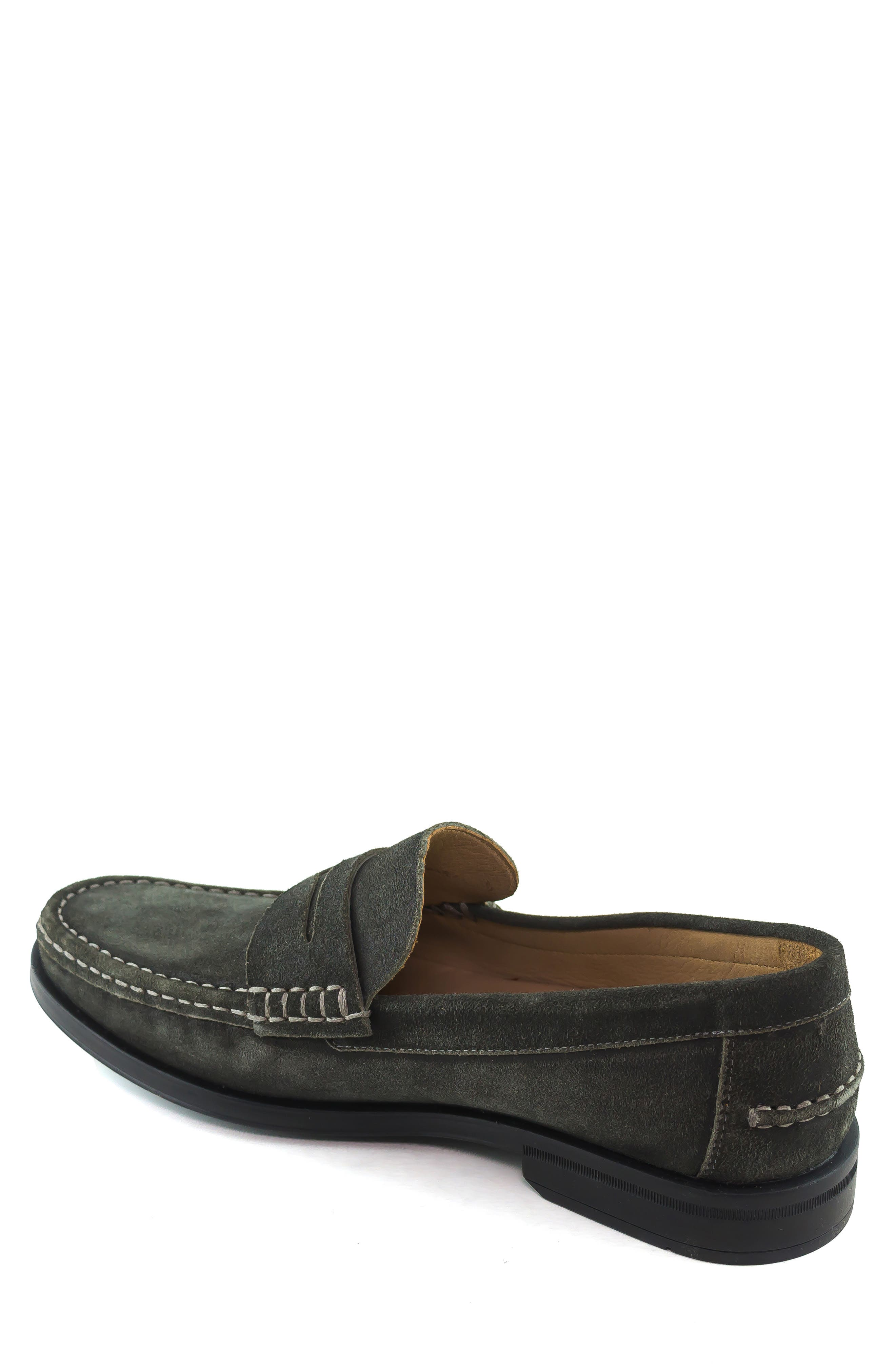 Cortland Penny Loafer,                             Alternate thumbnail 2, color,                             GRAPHITE LEATHER