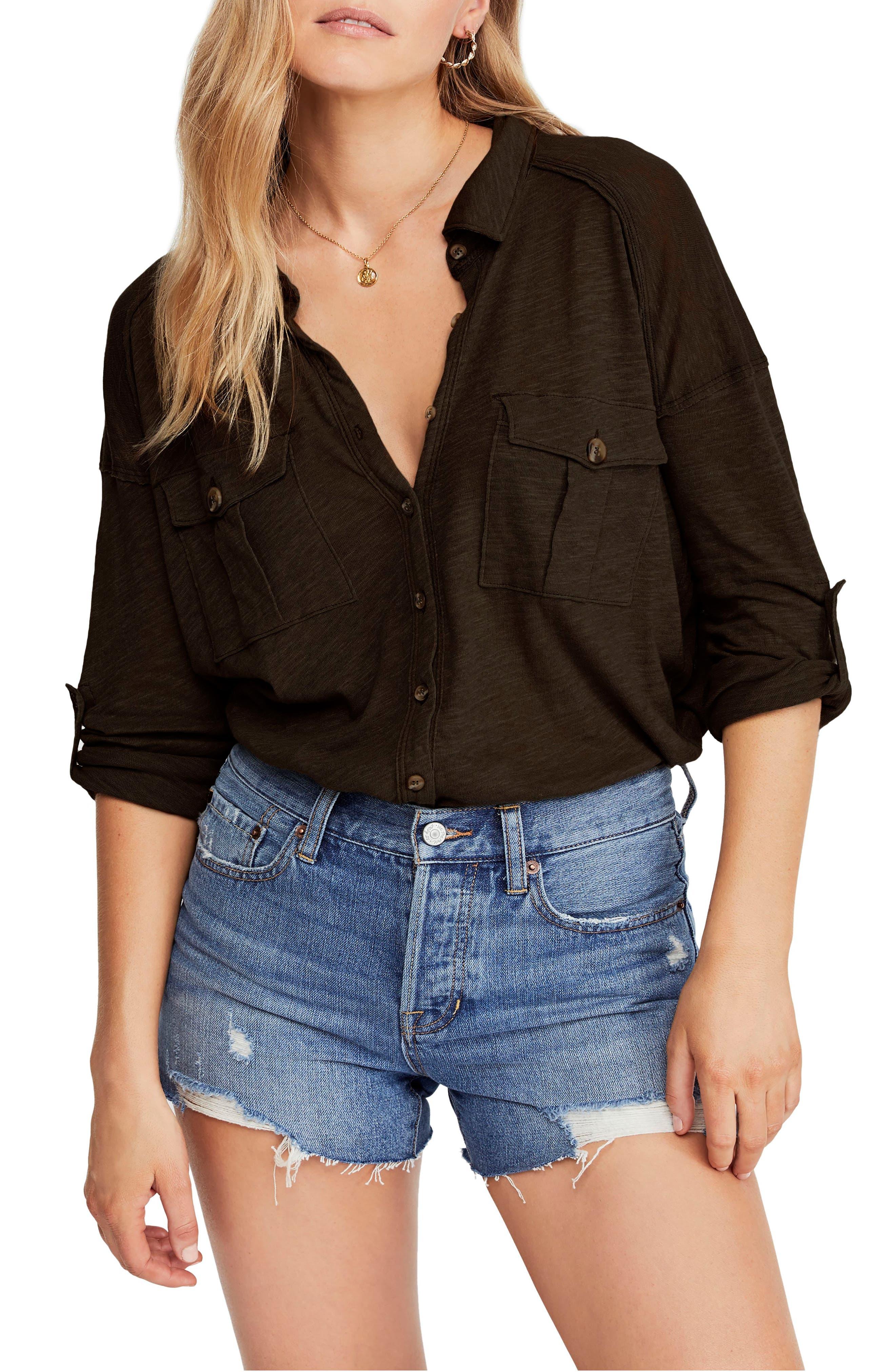 Penelope Shirt, Main, color, ARMY
