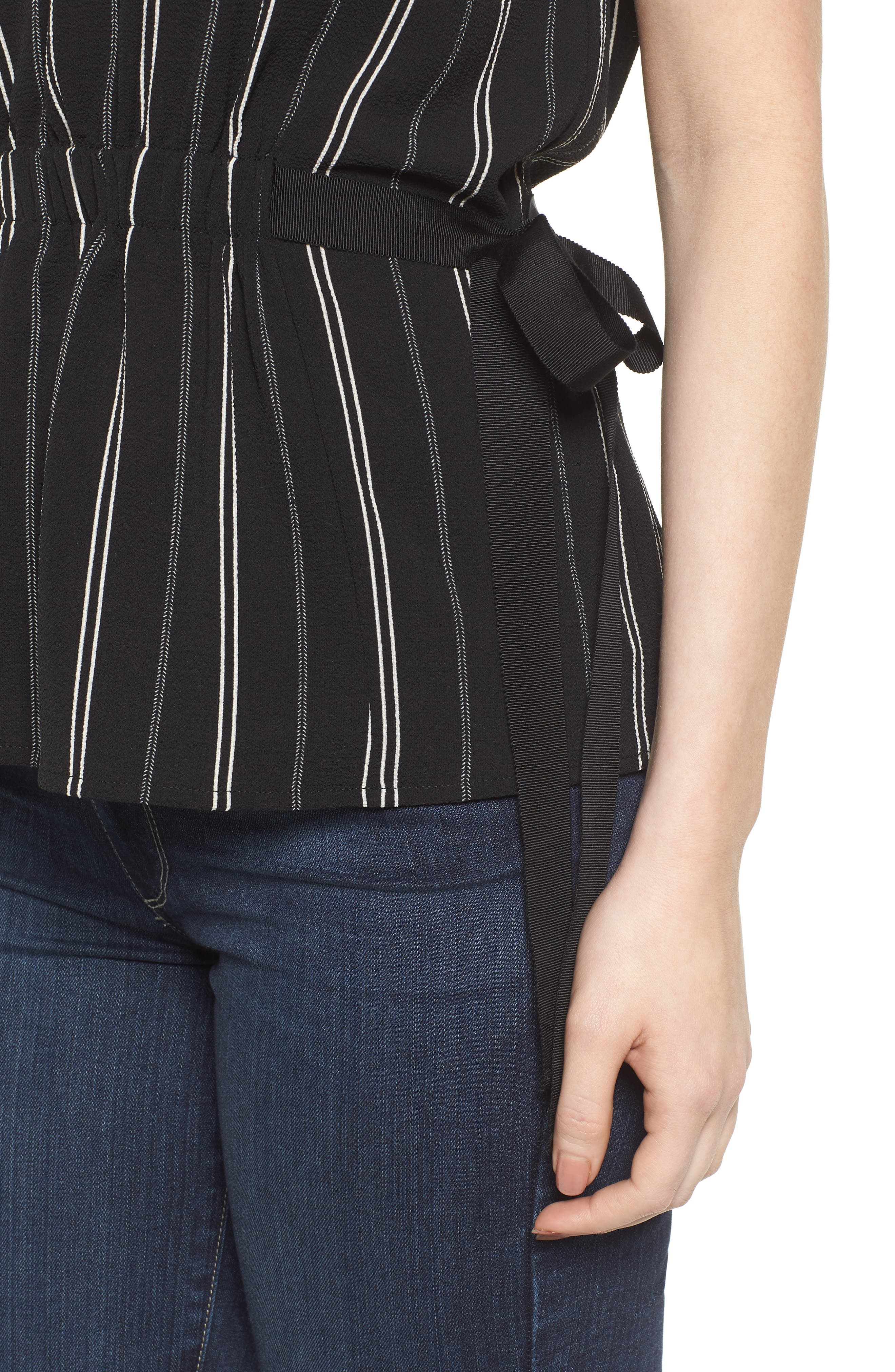 Gathered Waist Side Tie Top,                             Alternate thumbnail 4, color,                             013