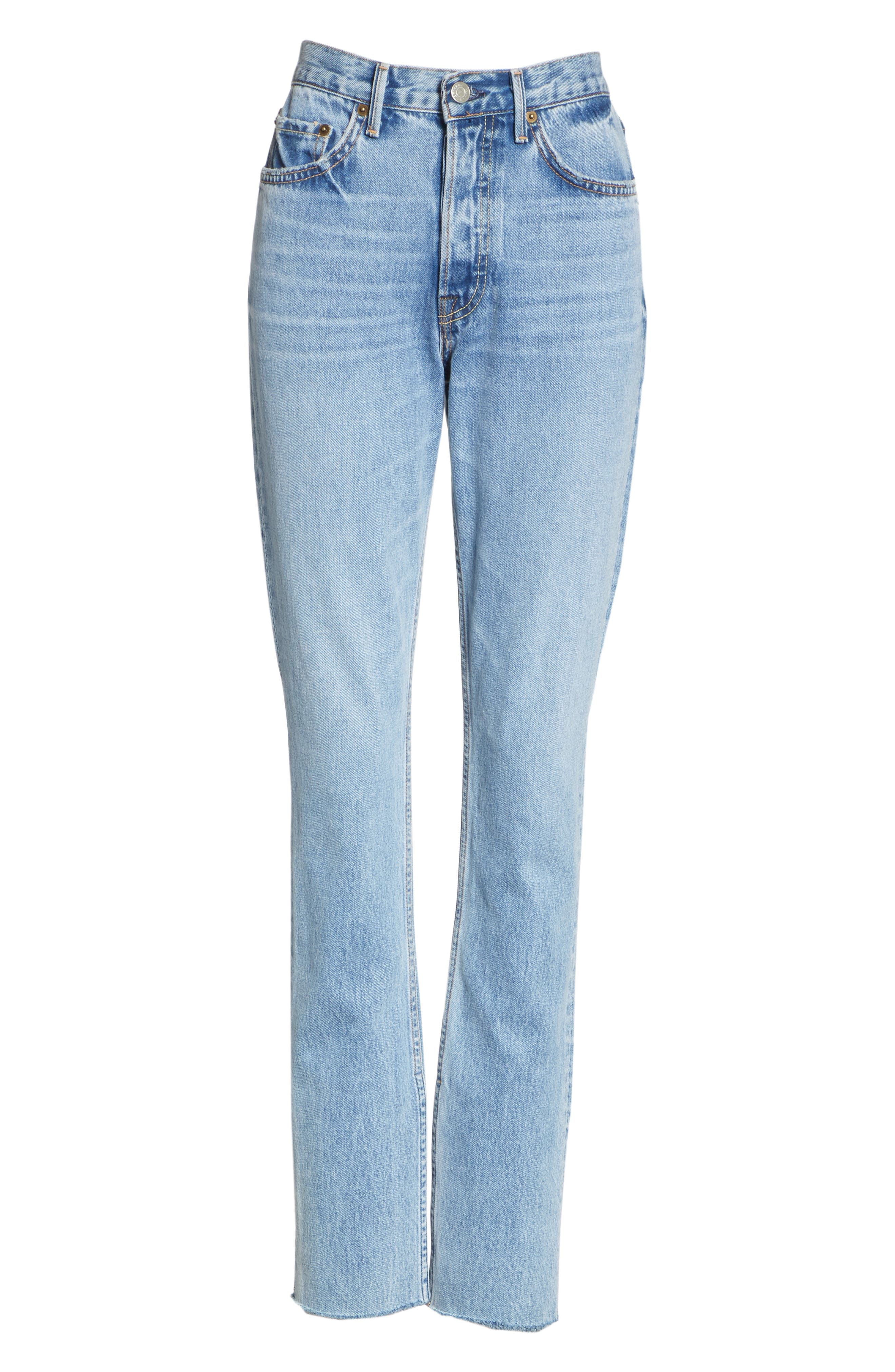 Addison Split Hem Boot Leg Jeans,                             Alternate thumbnail 7, color,                             TOUCH THE FLOOR