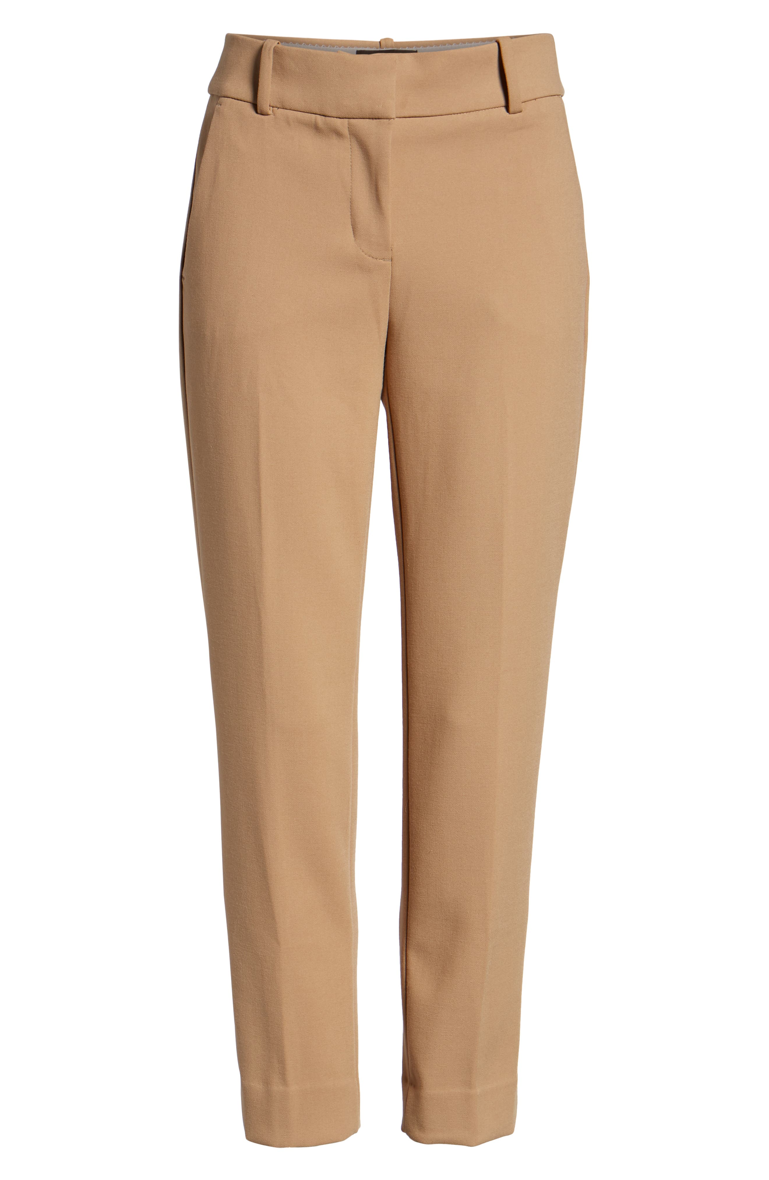 Cameron Four Season Crop Pants,                             Alternate thumbnail 6, color,                             HEATHER SADDLE