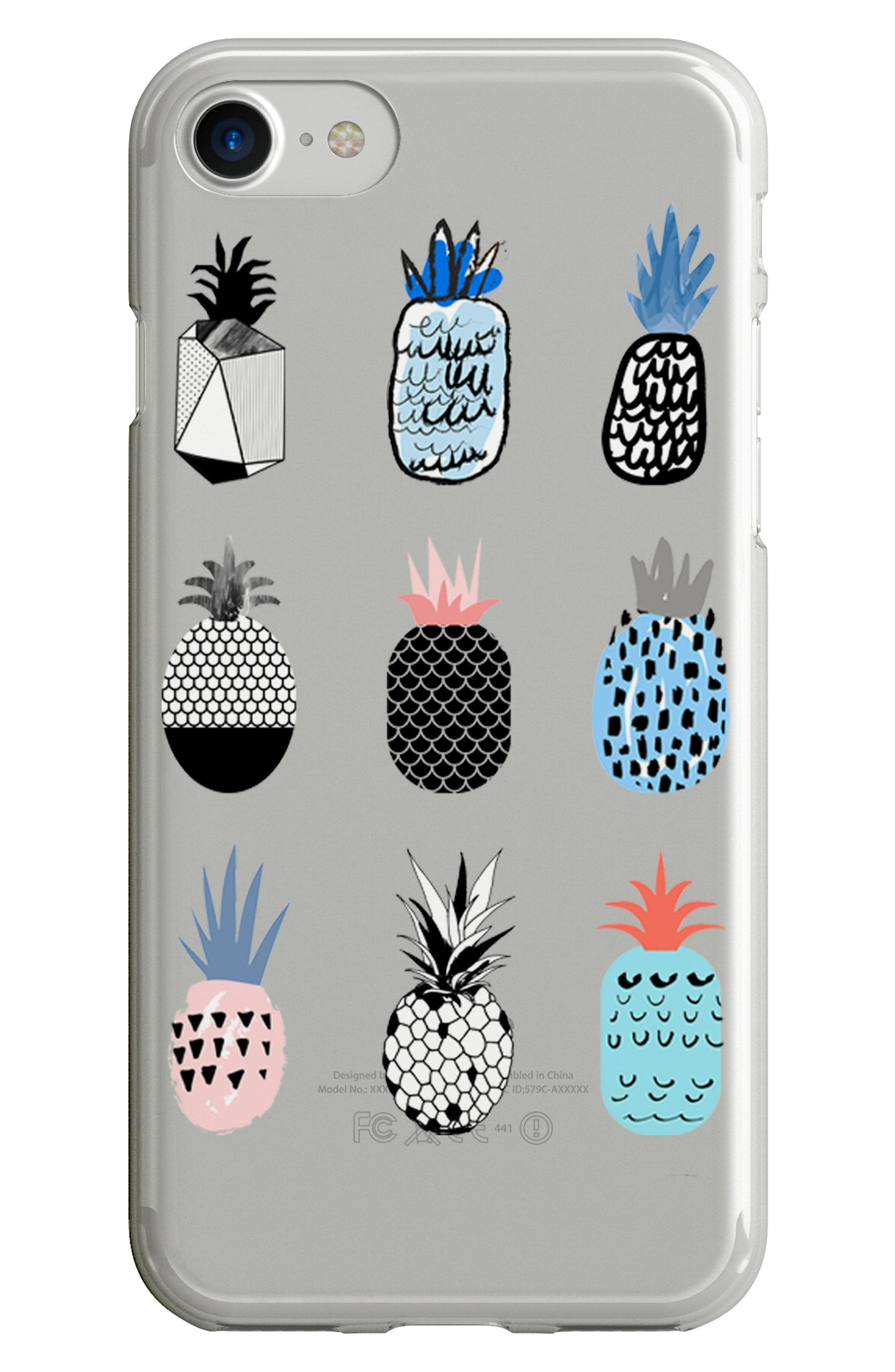 Pineapple iPhone 6/6s/7/8 Case,                             Main thumbnail 1, color,                             400