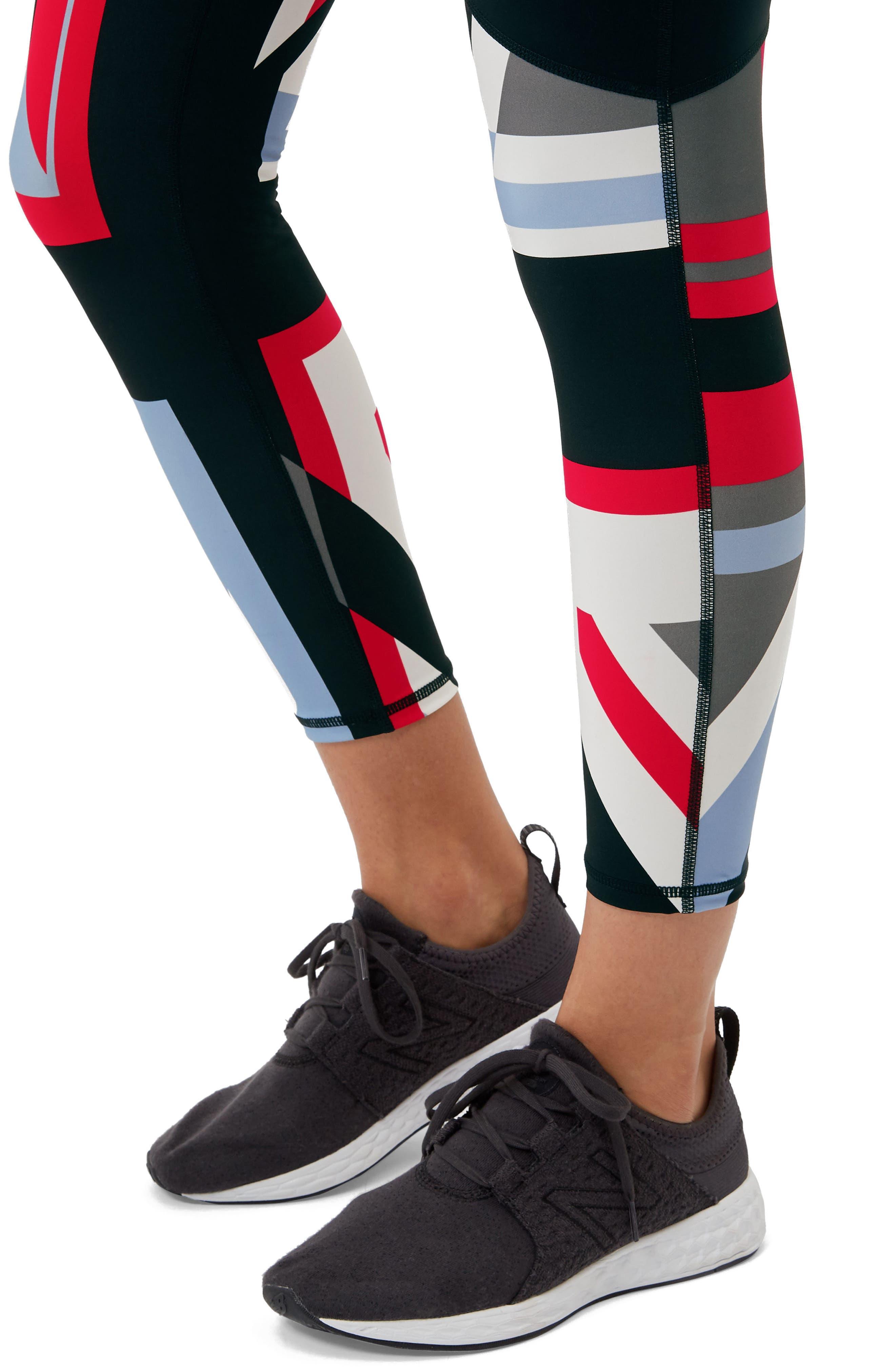 Power Union Jack Ankle Leggings,                             Alternate thumbnail 5, color,                             001