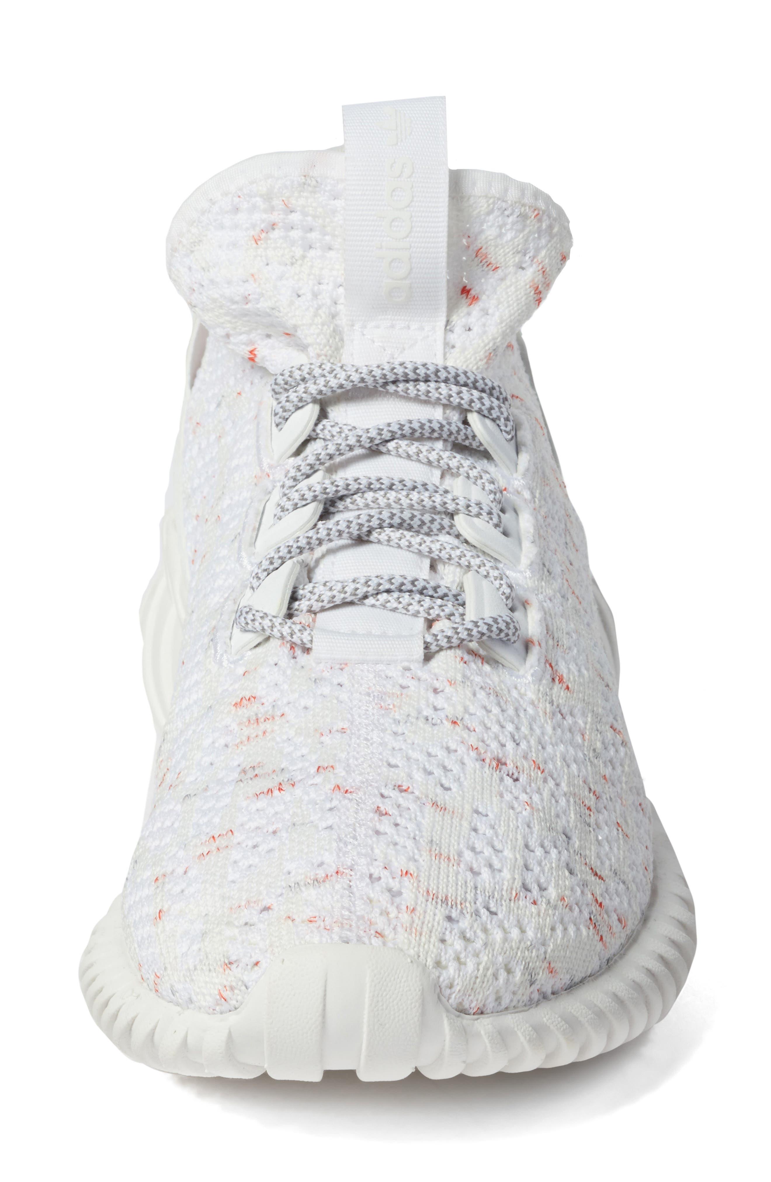 Tubular Doom Sock Primeknit Sneaker,                             Alternate thumbnail 4, color,                             020