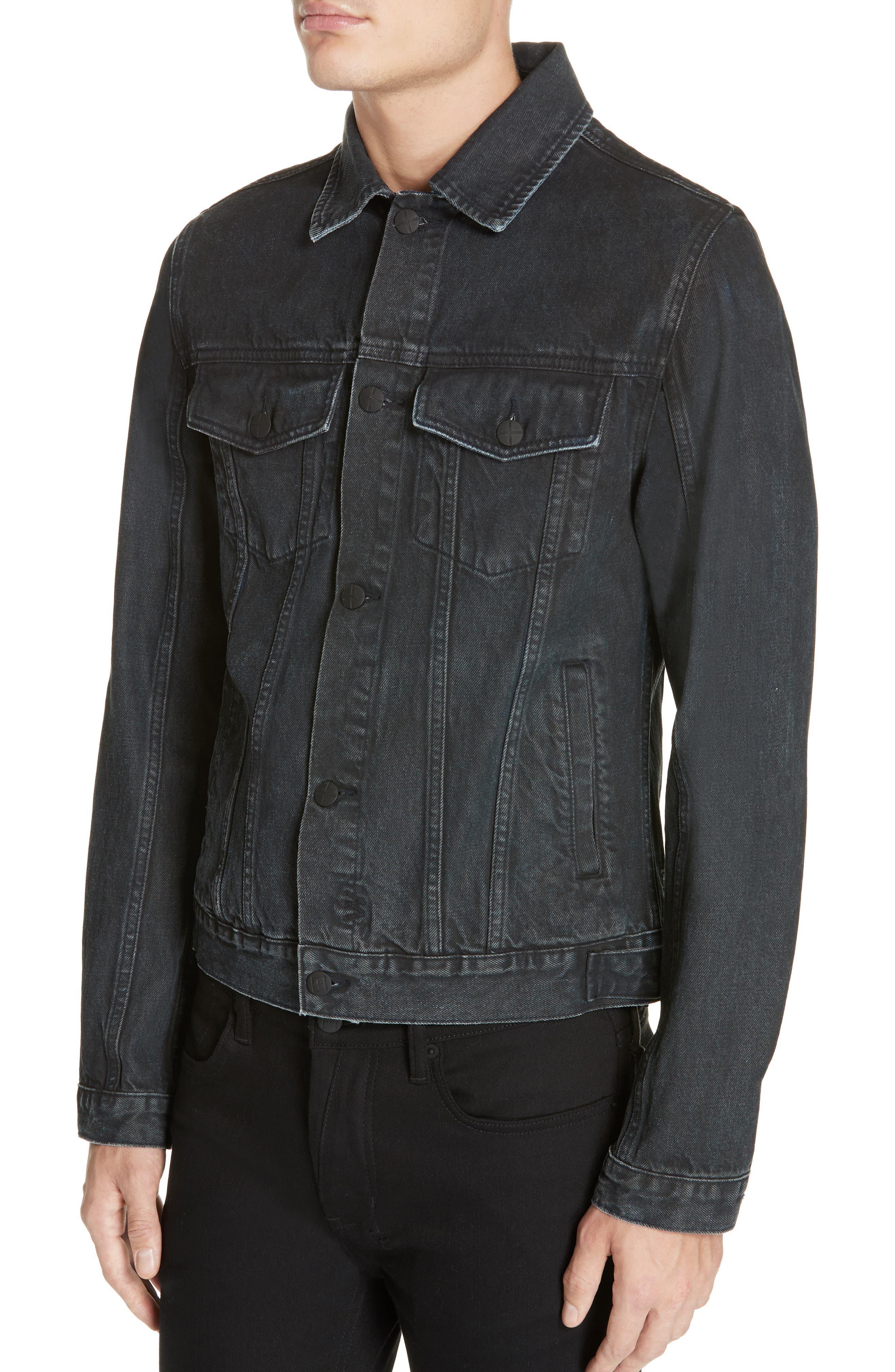 KSUBI,                             Classic Denim Jacket,                             Alternate thumbnail 4, color,                             BLACK TOP